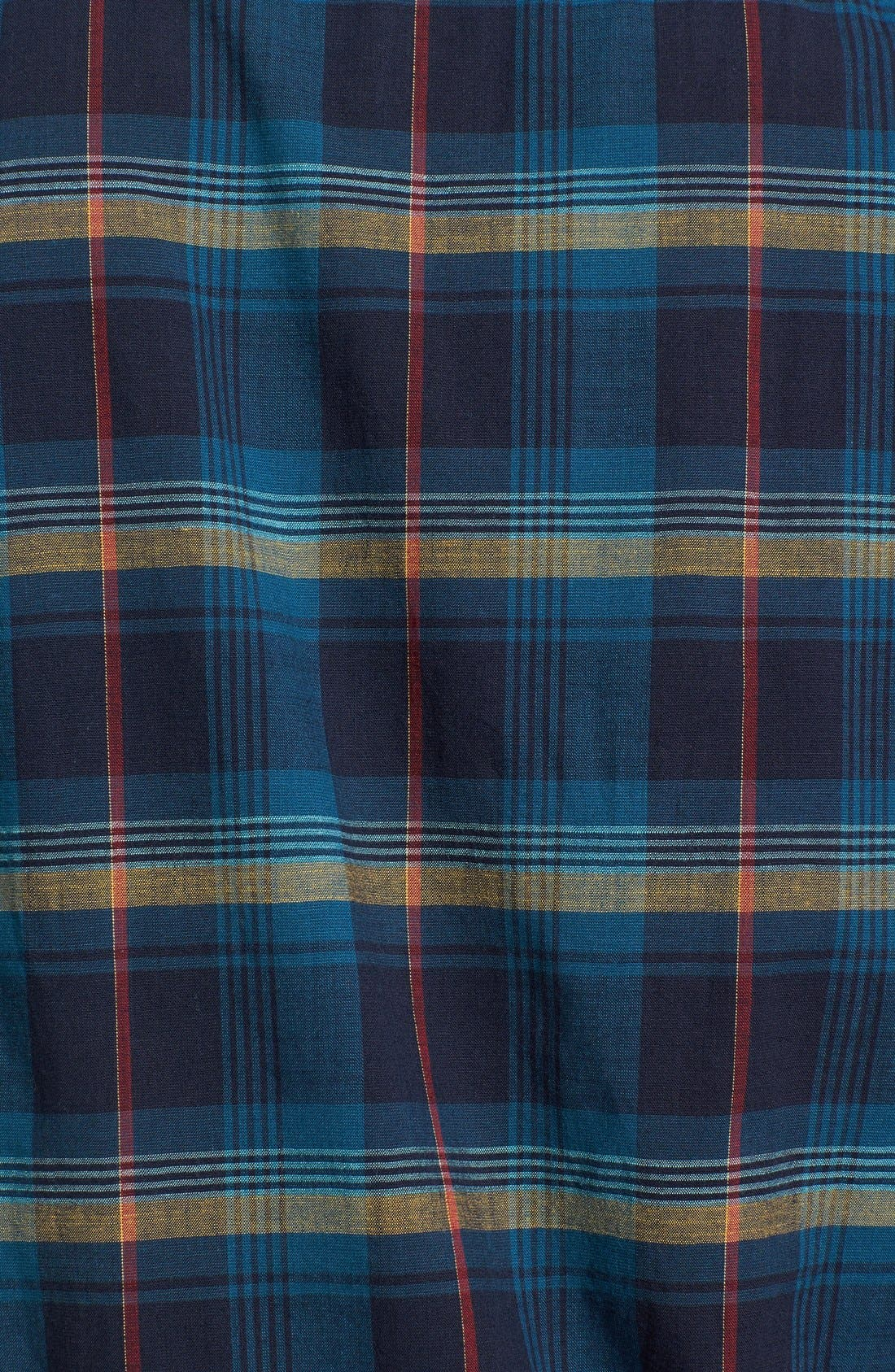 Alternate Image 3  - Wallin & Bros. 'Signature' Trim Fit Short Sleeve Madras Sport Shirt