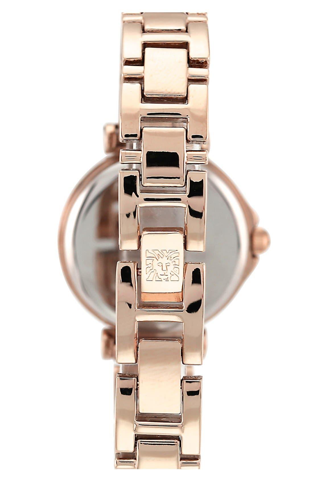 Alternate Image 2  - Anne Klein Crystal Index Round Bracelet Watch, 28mm