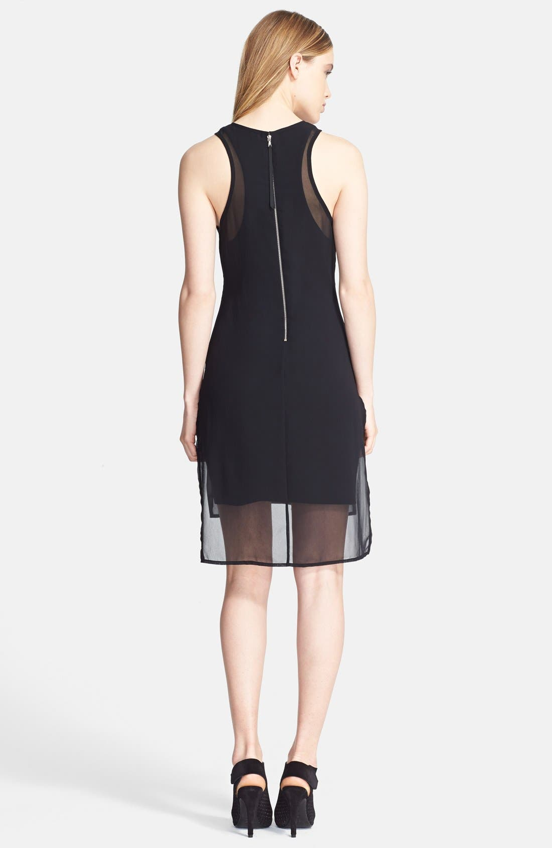 Alternate Image 2  - rag & bone 'Bailey' Chiffon High/Low Dress