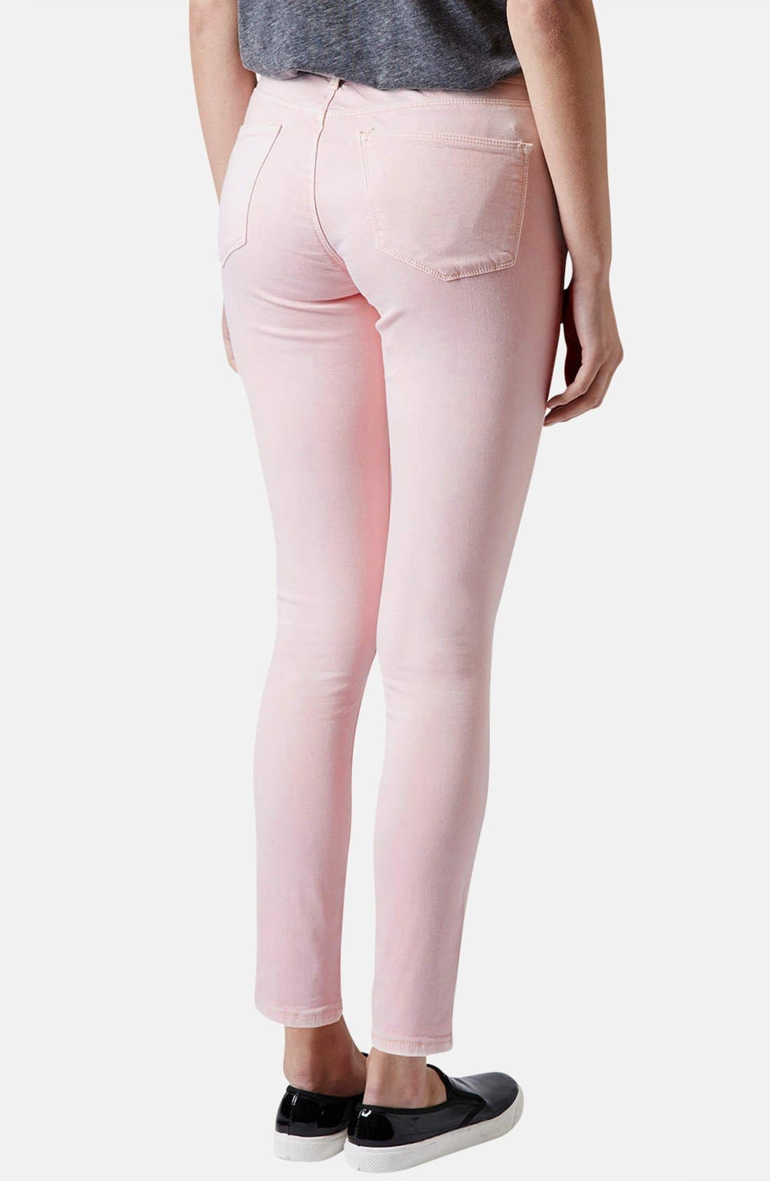 Alternate Image 2  - Topshop Moto 'Leigh' Skinny Jeans (Regular, Short & Long)