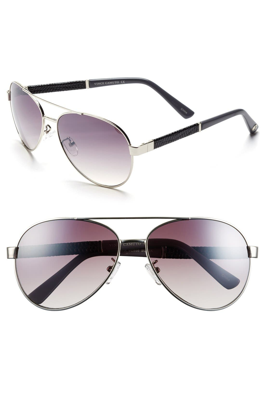 Alternate Image 1 Selected - Vince Camuto 60mm Aviator Sunglasses