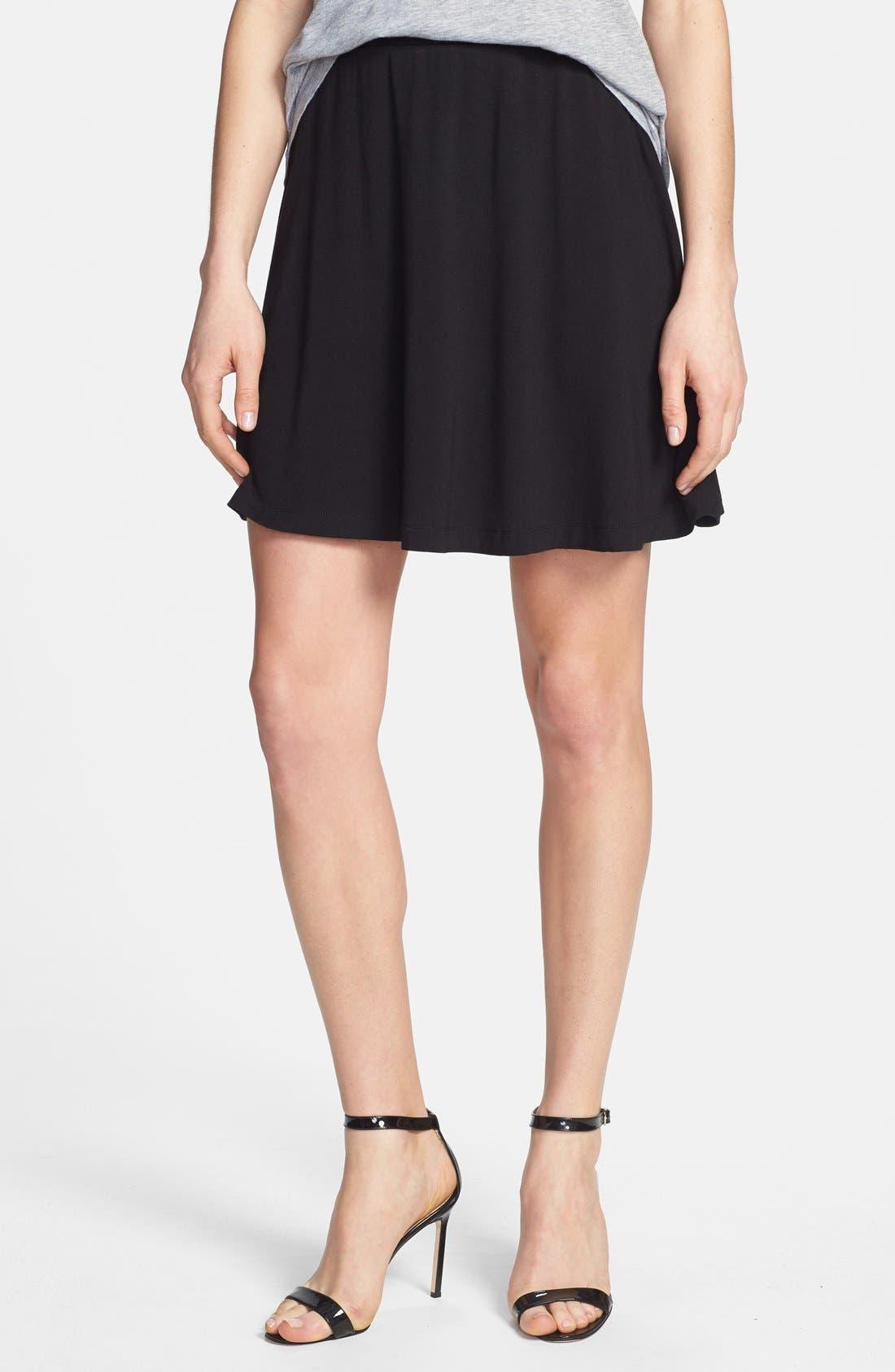Alternate Image 1 Selected - Caslon® Skater Skirt (Regular & Petite)