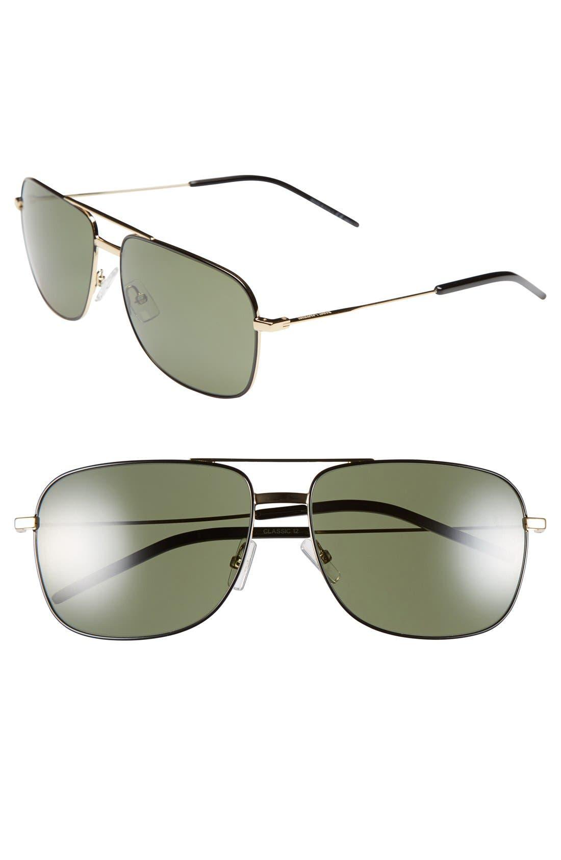 Main Image - Saint Laurent 59mm Navigator Sunglasses
