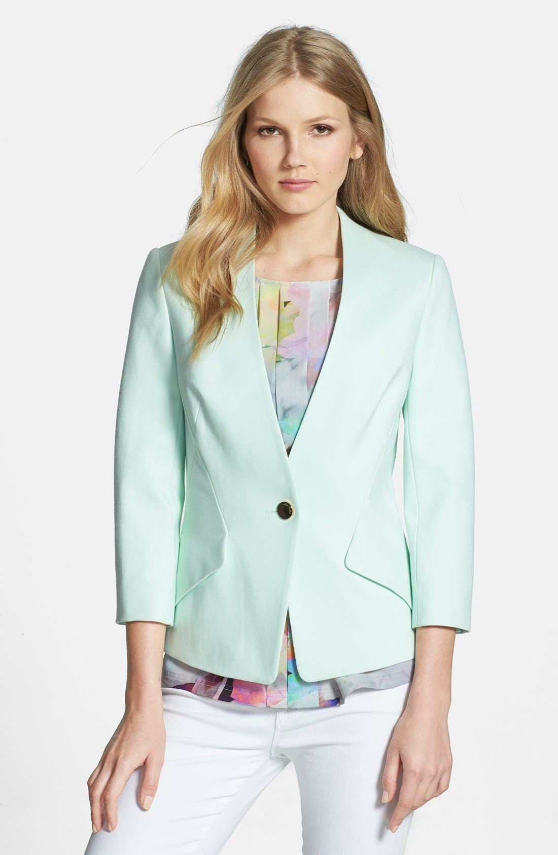 Main Image - Ted Baker London One-Button Ponte Knit Jacket