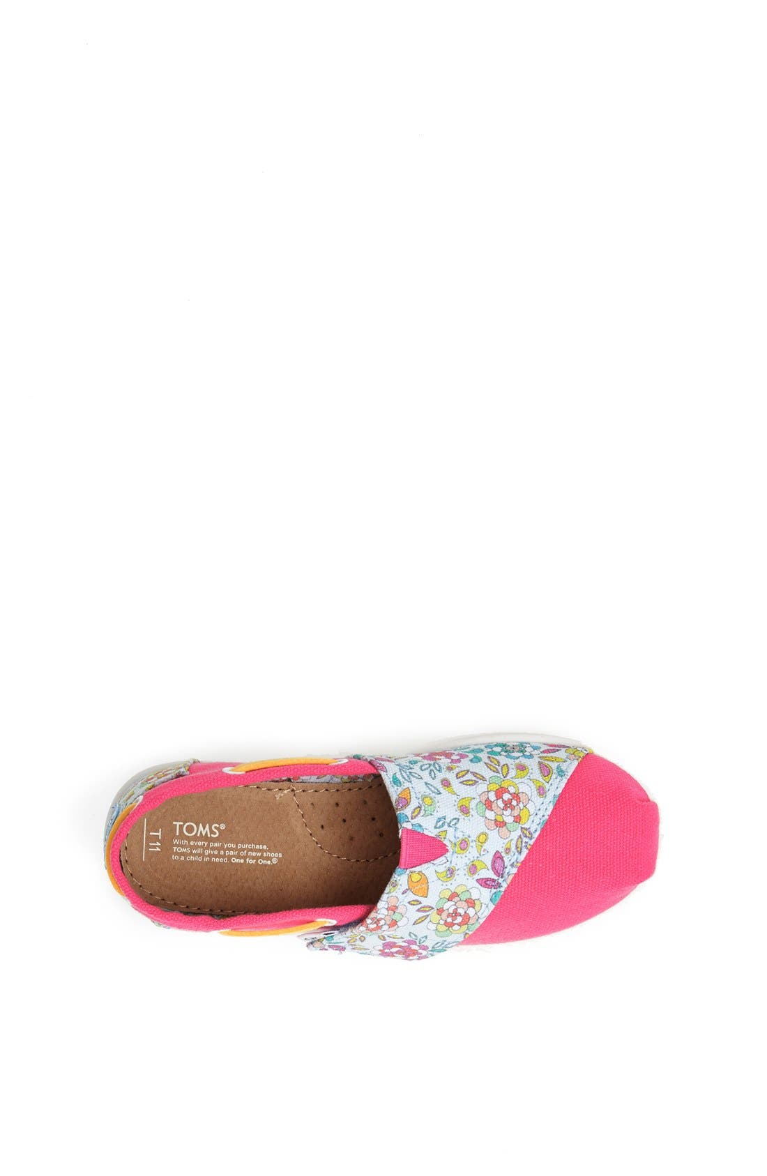 Alternate Image 3  - TOMS 'Bimini Tiny - Pink Inked Floral' Slip-On (Baby, Walker & Toddler)