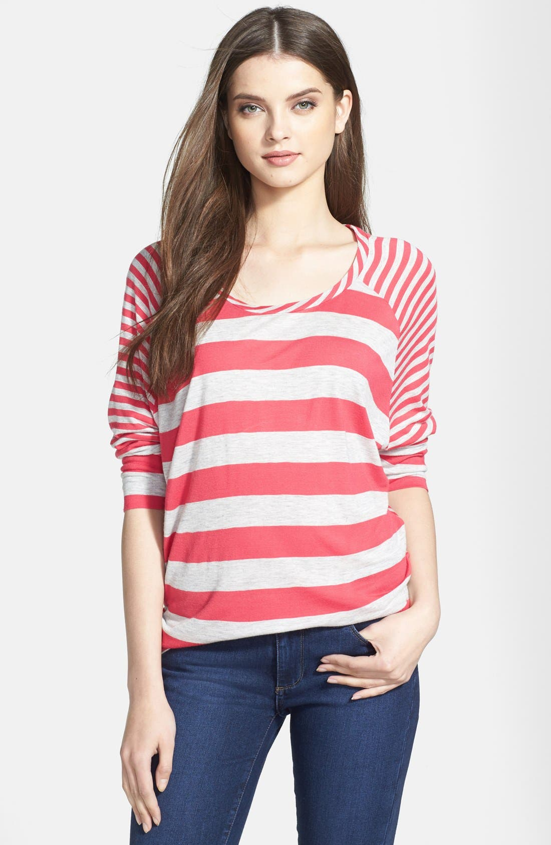 Alternate Image 1 Selected - Caslon® Mix Stripe Wedge Tee