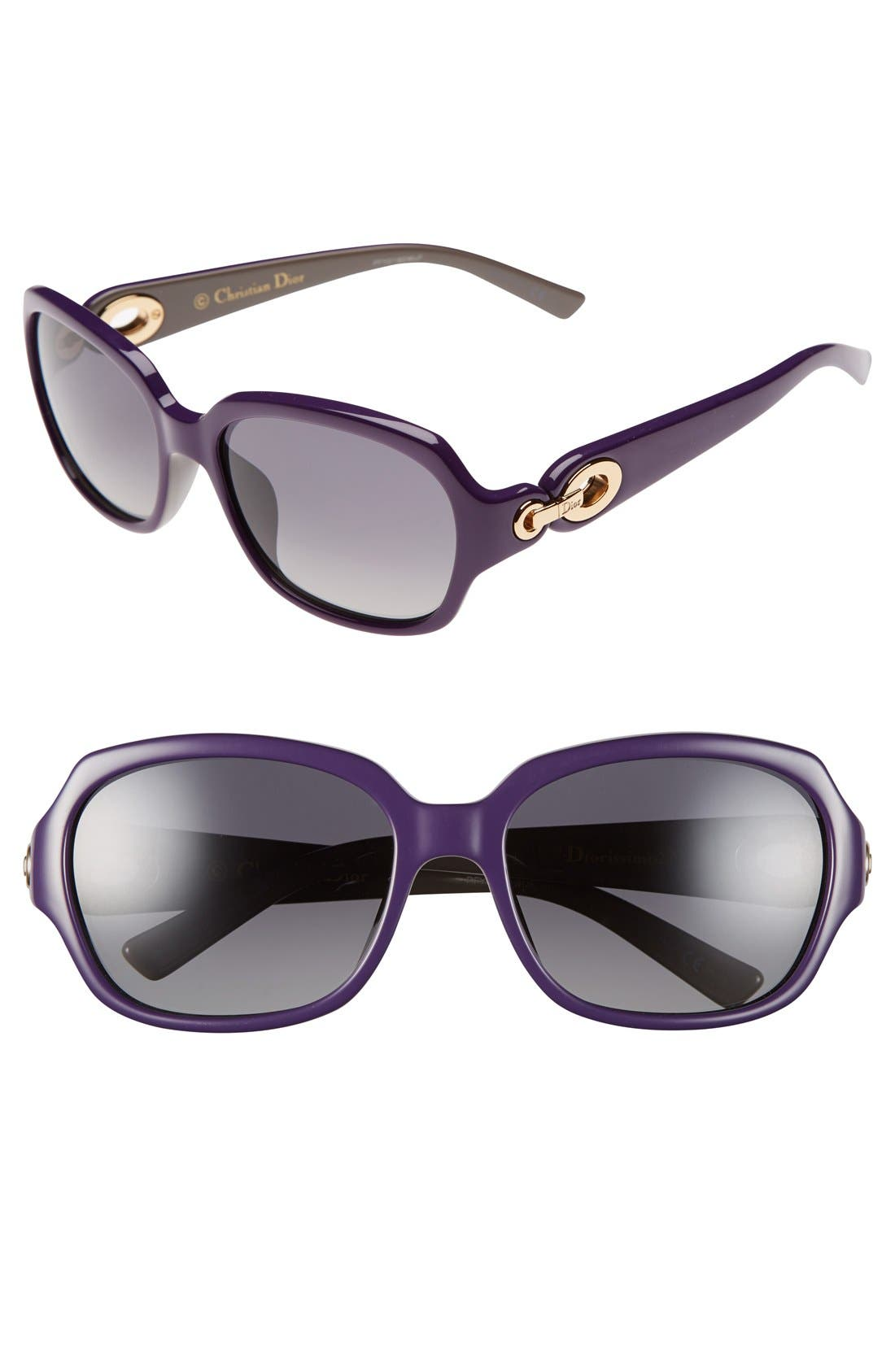 Alternate Image 1 Selected - Christian Dior 56mm Polarized Sunglasses