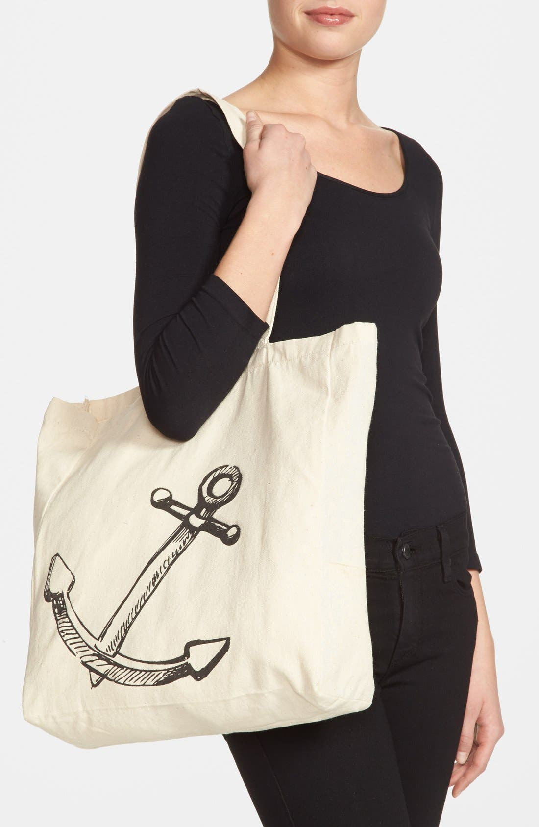 Alternate Image 2  - Tri-Coastal Design Anchor Graphic Tote (Juniors) (Online Only)