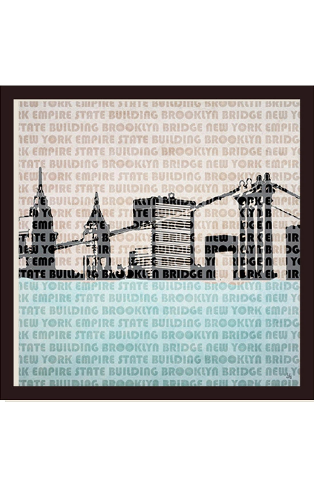 Main Image - Green Leaf Art 'New York City' Wooden Wall Art