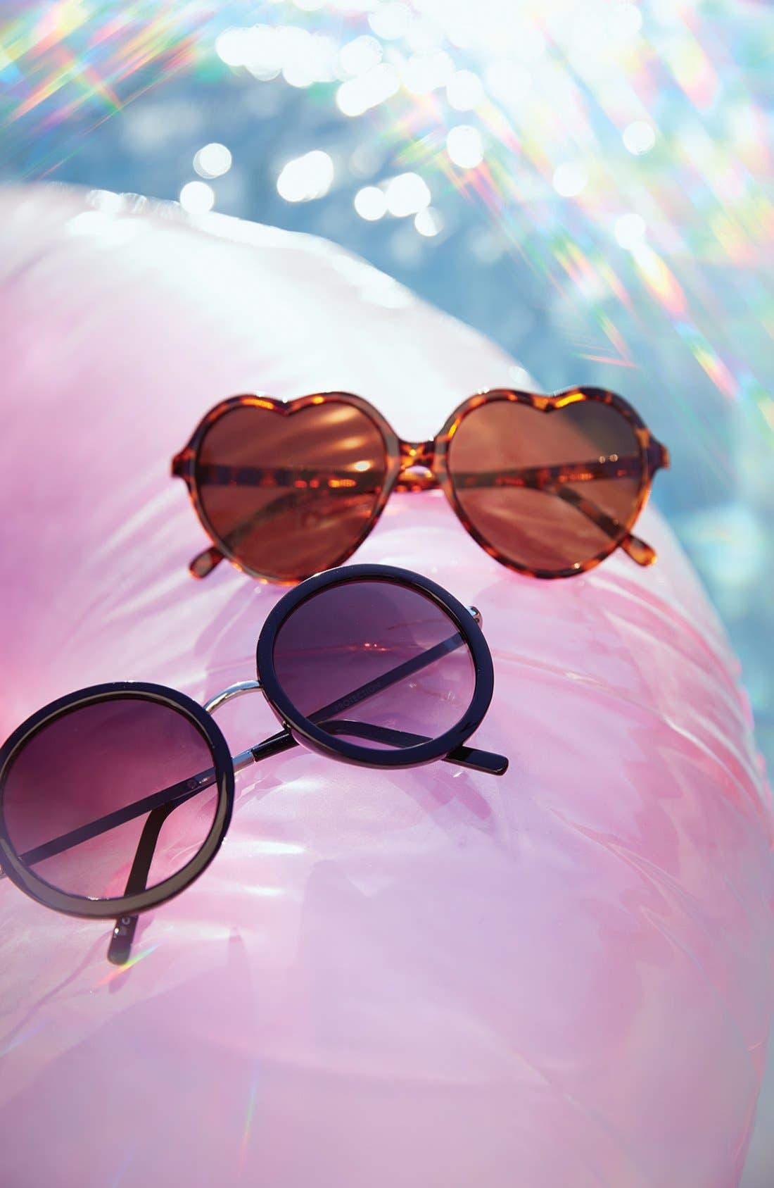 Round 51mm Sunglasses,                             Alternate thumbnail 2, color,