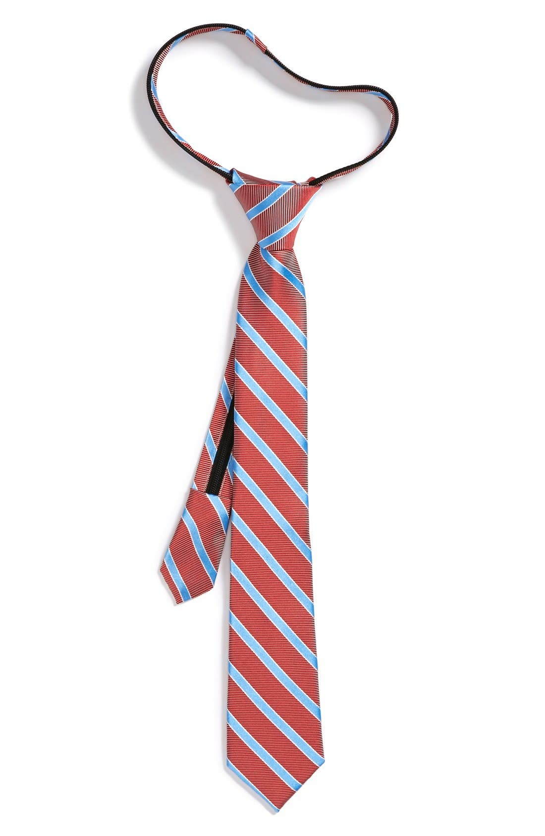 Main Image - Nordstrom Silk Zipper Tie (Little Boys)