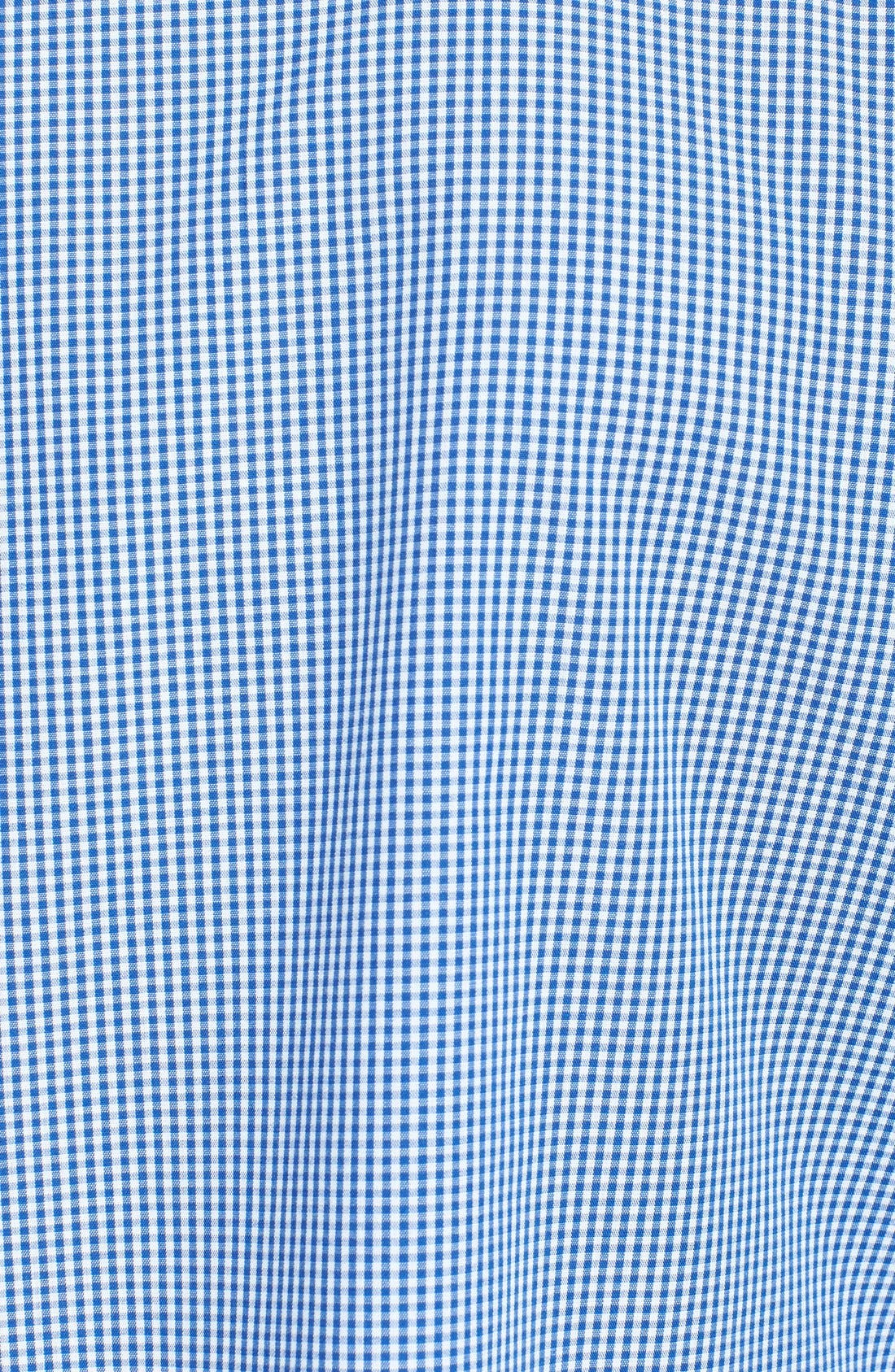 Alternate Image 3  - Topman Slim Fit Chambray Trimmed Gingham Shirt