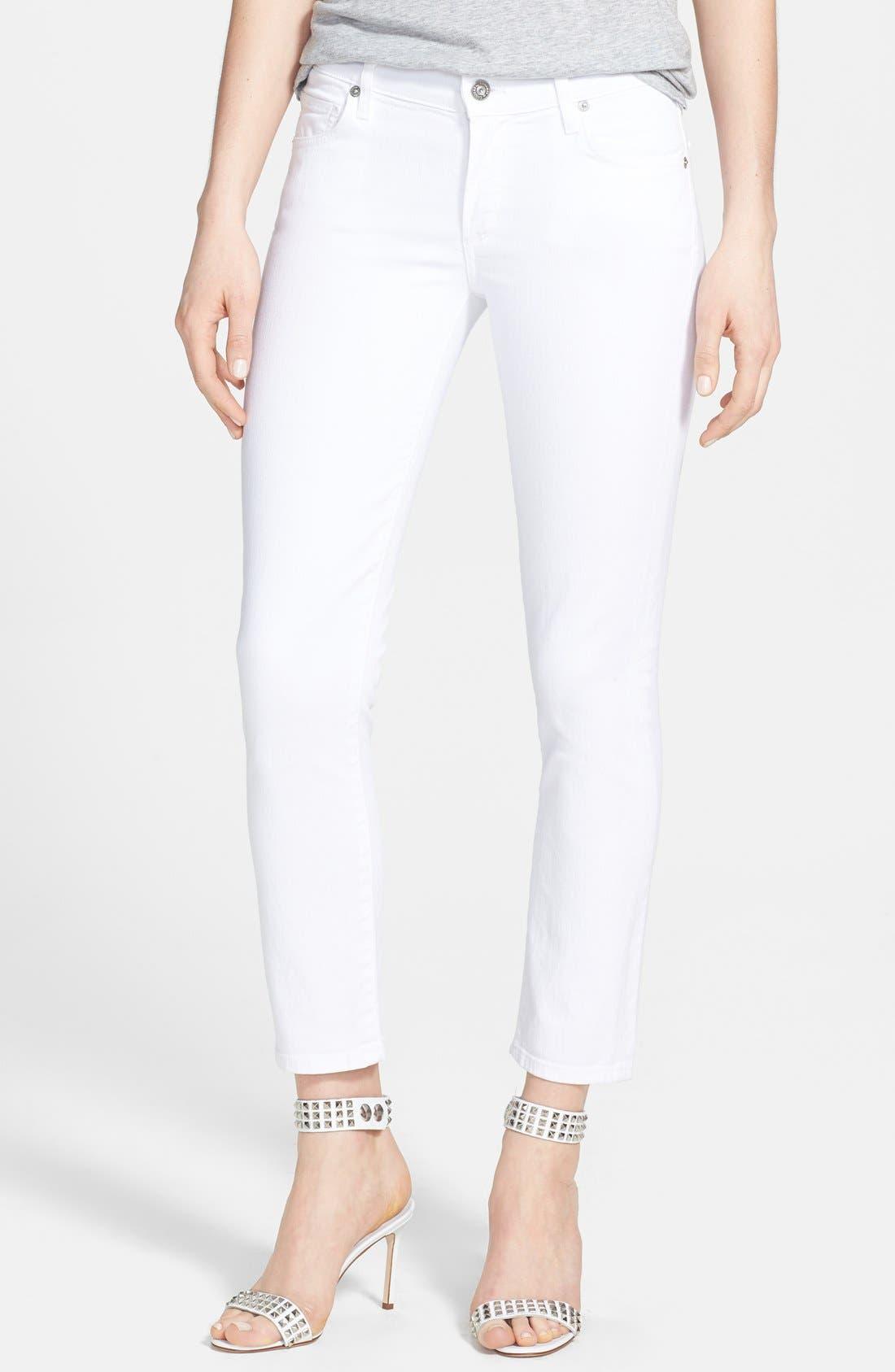 'Phoebe' Slim Straight Crop Jeans,                         Main,                         color, Santorini