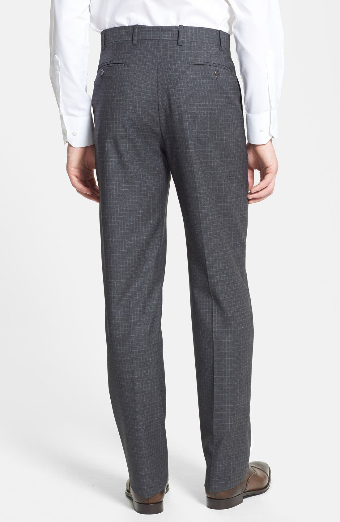 Alternate Image 2  - Zanella 'Todd' Flat Front Check Trousers
