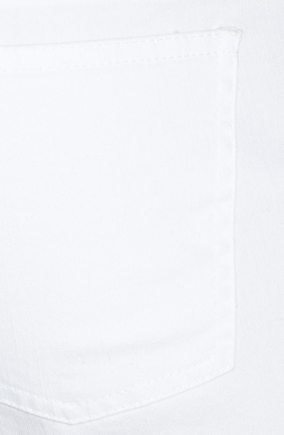Alternate Image 3  - Eileen Fisher Stretch Denim Ankle Skinny Jeans (White) (Regular & Petite)