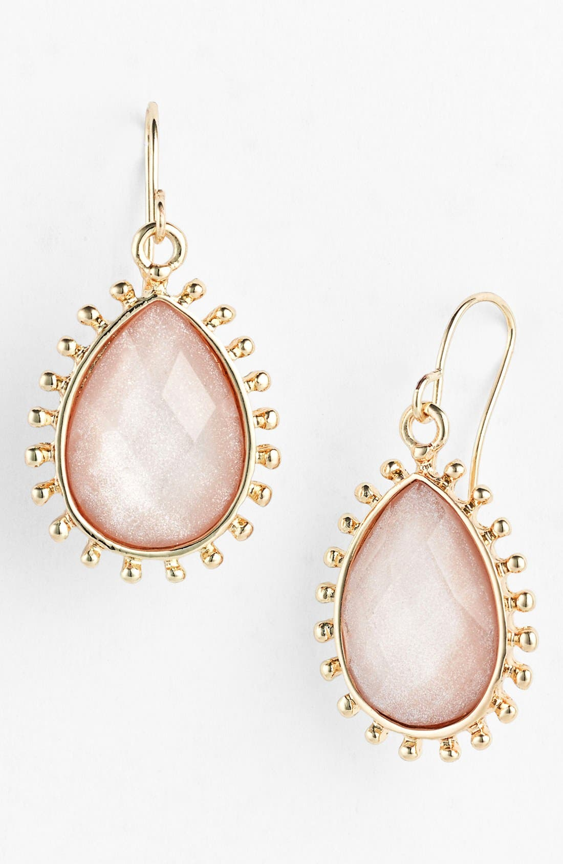 Alternate Image 1 Selected - BP. Glitter Teardrop Earrings (Juniors)