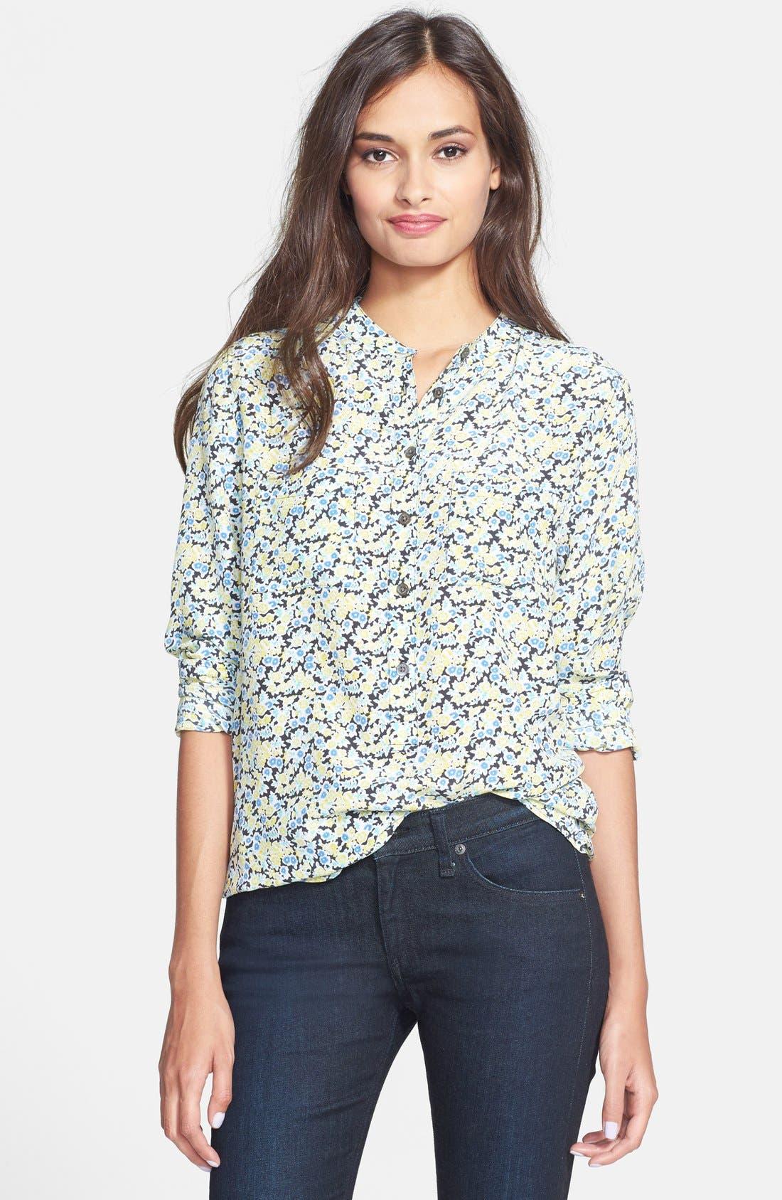 Alternate Image 1 Selected - Equipment 'Ava' Flower Print Silk Shirt