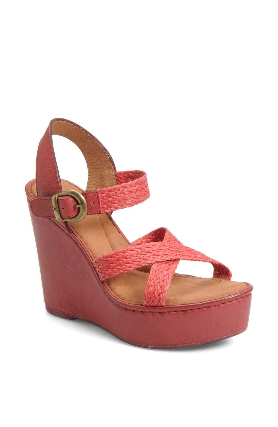 Alternate Image 1 Selected - Børn 'Estefania' Wedge Sandal