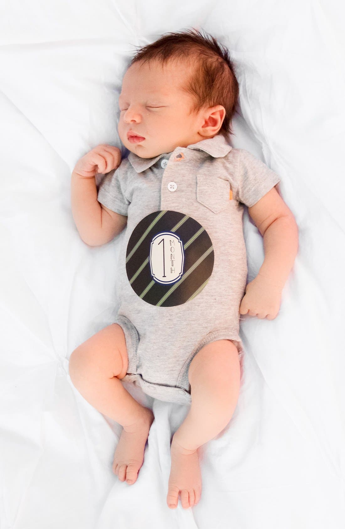 Alternate Image 2  - Lucy Darling Bodysuit & Stickers (Baby Boys)