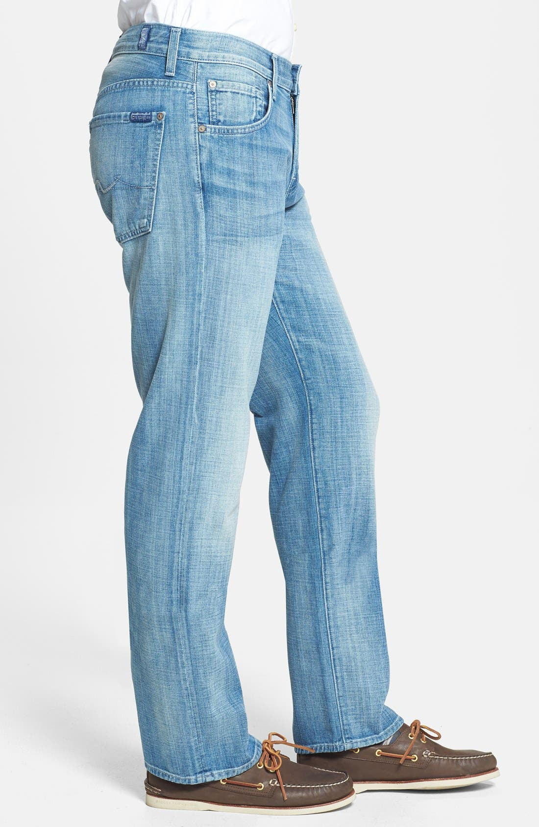 Alternate Image 3  - 7 For All Mankind® 'Austyn' Relaxed Fit Jeans (Ivory Coast)