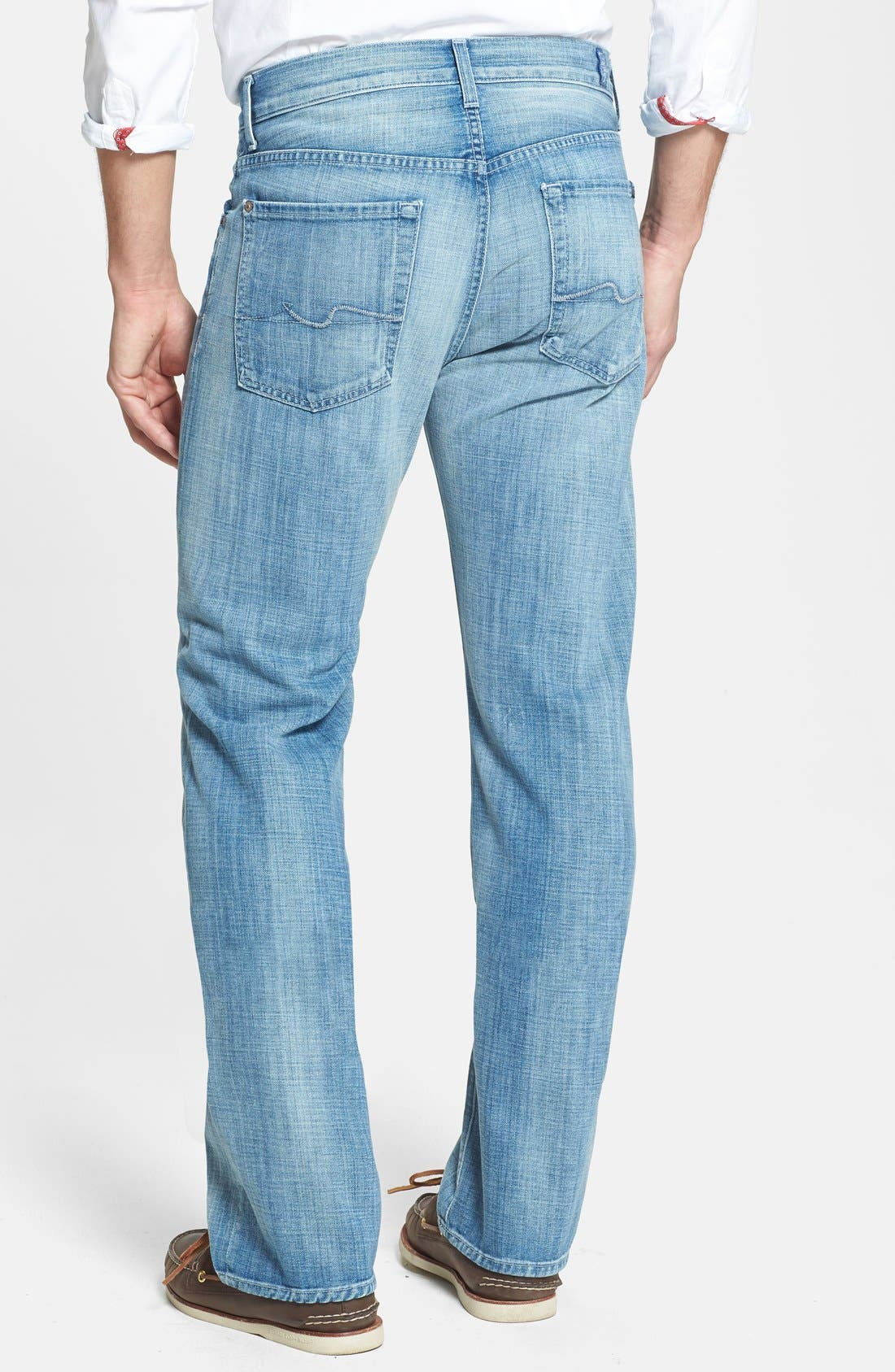 Alternate Image 2  - 7 For All Mankind® 'Austyn' Relaxed Fit Jeans (Ivory Coast)