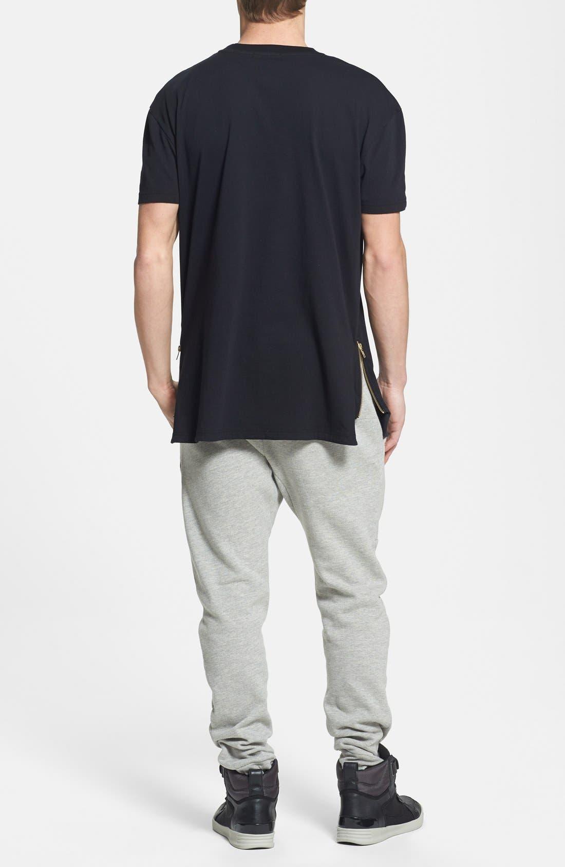 Alternate Image 4  - Topman Skinny Fit Jogger Pants with Zip Hems