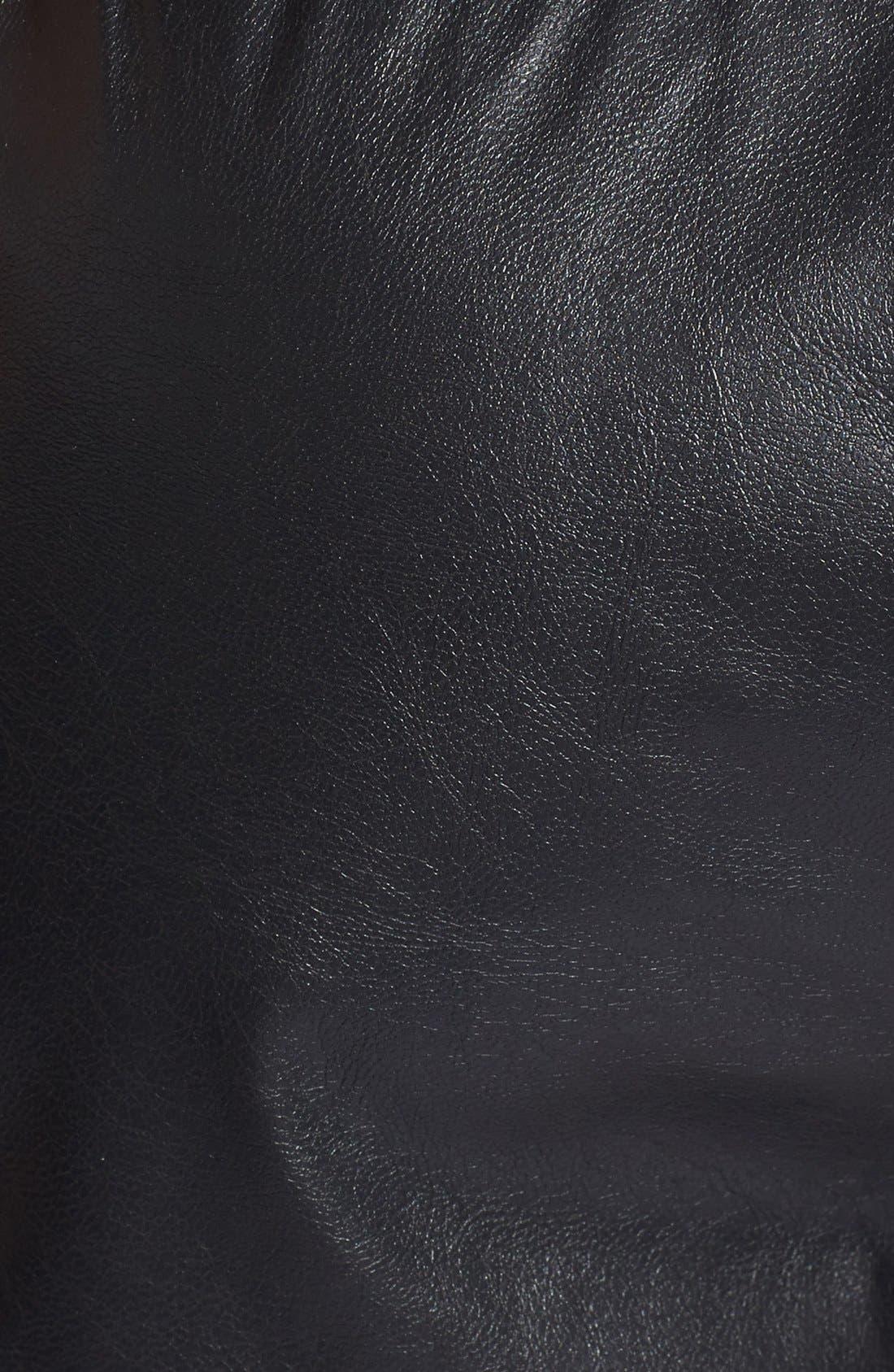 Alternate Image 3  - Max & Mia Faux Leather Athletic Shorts