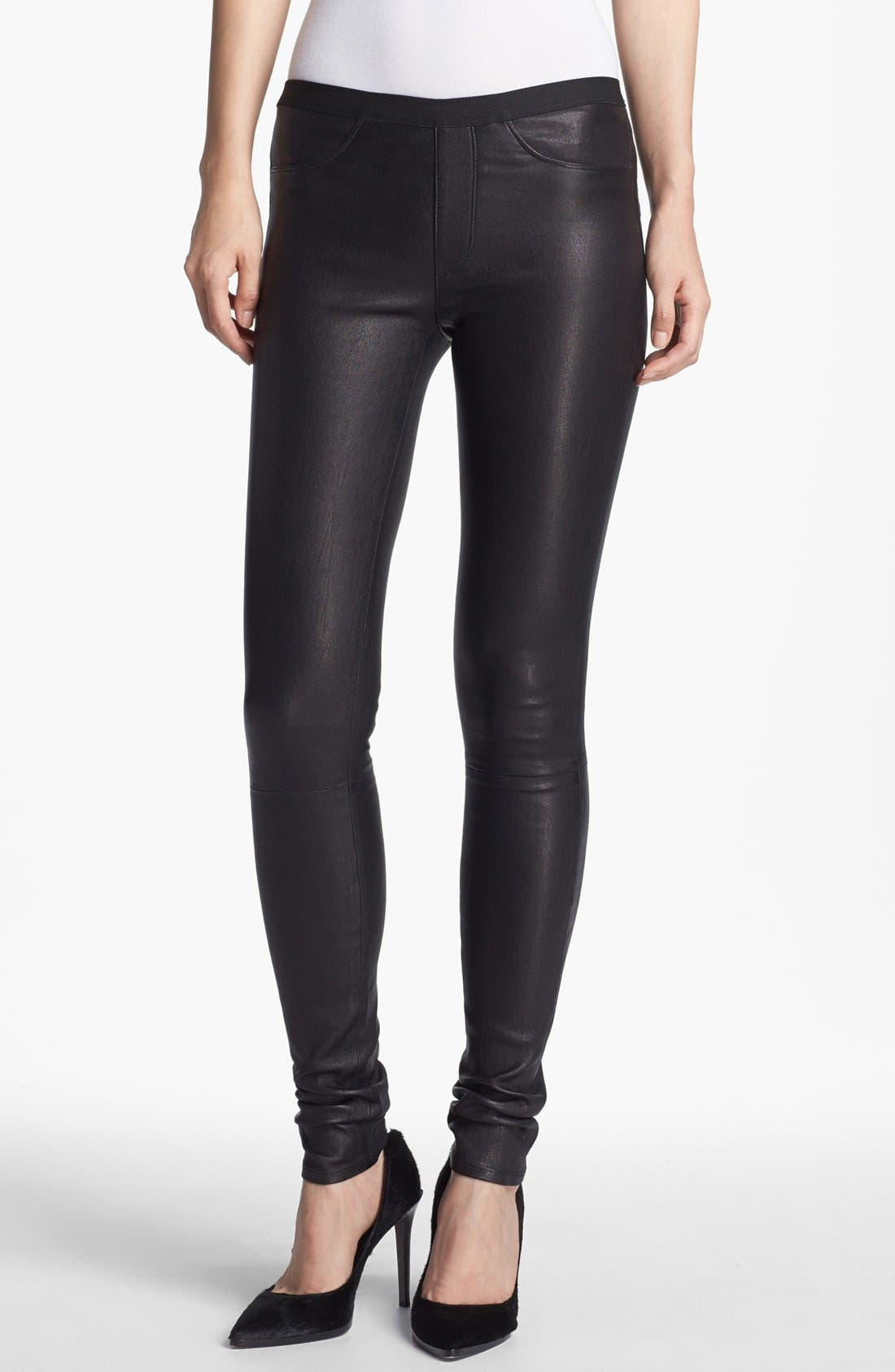Main Image - Helmut Lang Lambskin Leather Leggings