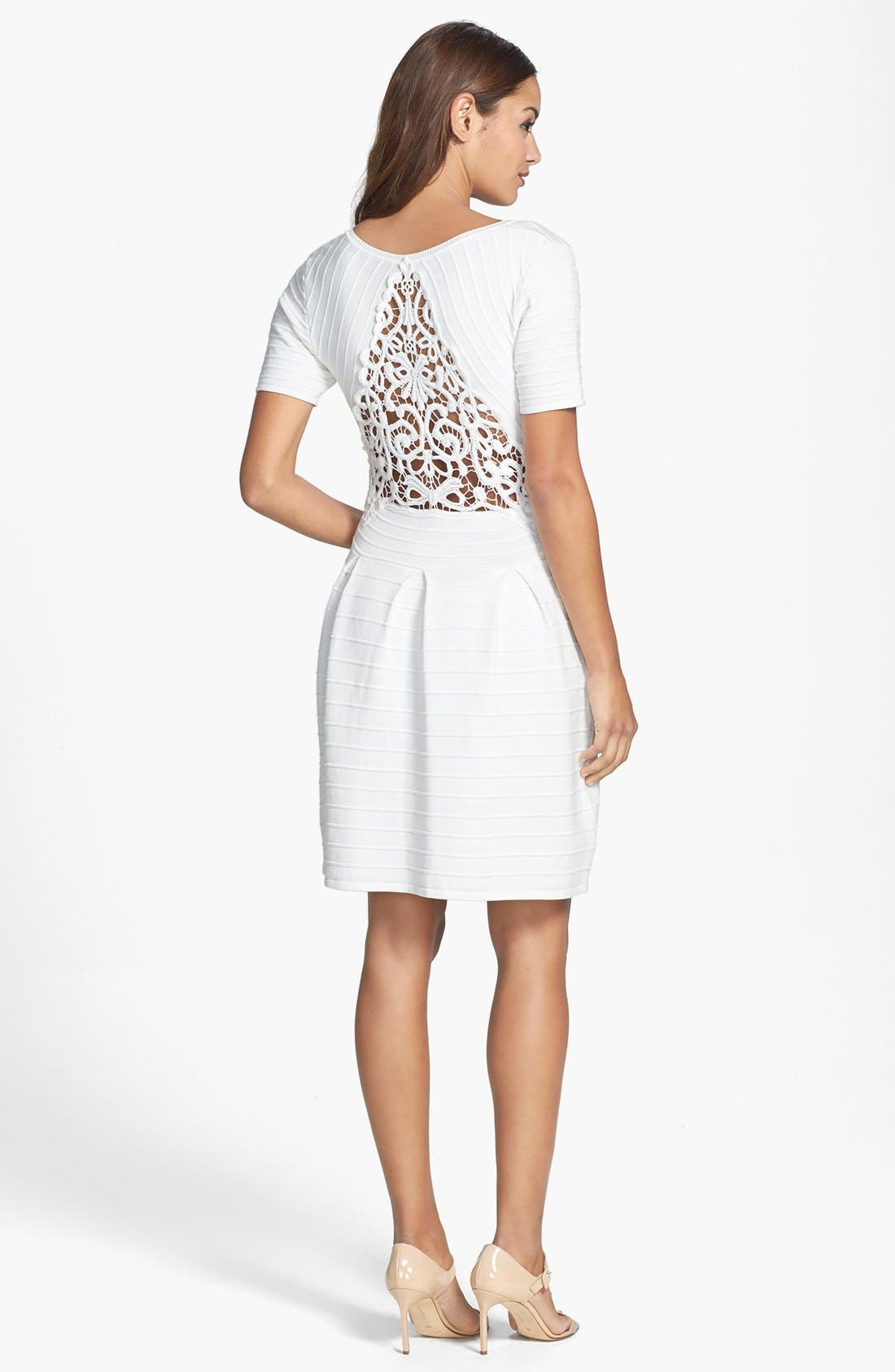 Alternate Image 2  - French Connection Lace Back Knit Fit & Flare Dress