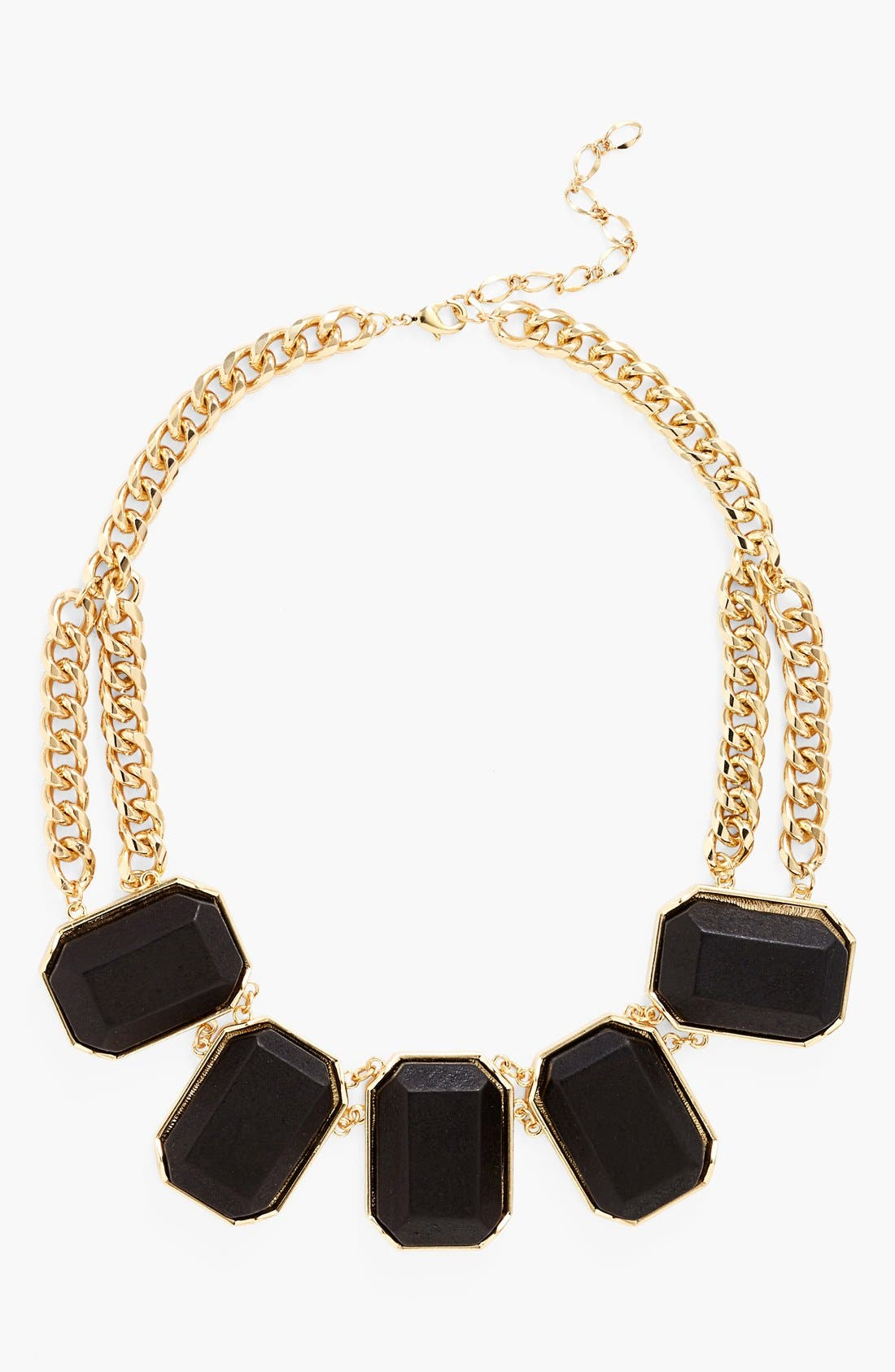 Alternate Image 1 Selected - Nordstrom 'Safari' Wood Block Frontal Necklace