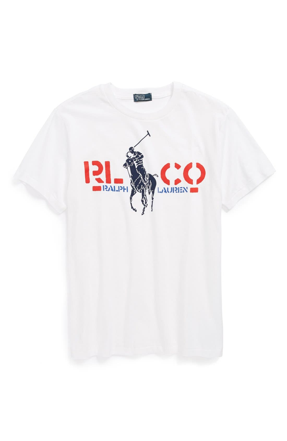 Main Image - Ralph Lauren Cotton T-Shirt (Little Boys)