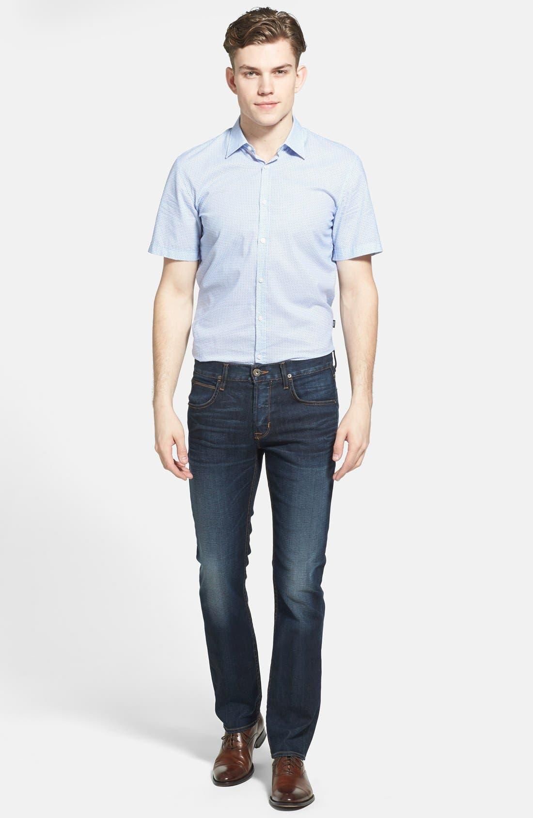 Alternate Image 4  - BOSS HUGO BOSS 'Marco' Slim Fit Short Sleeve Print Sport Shirt