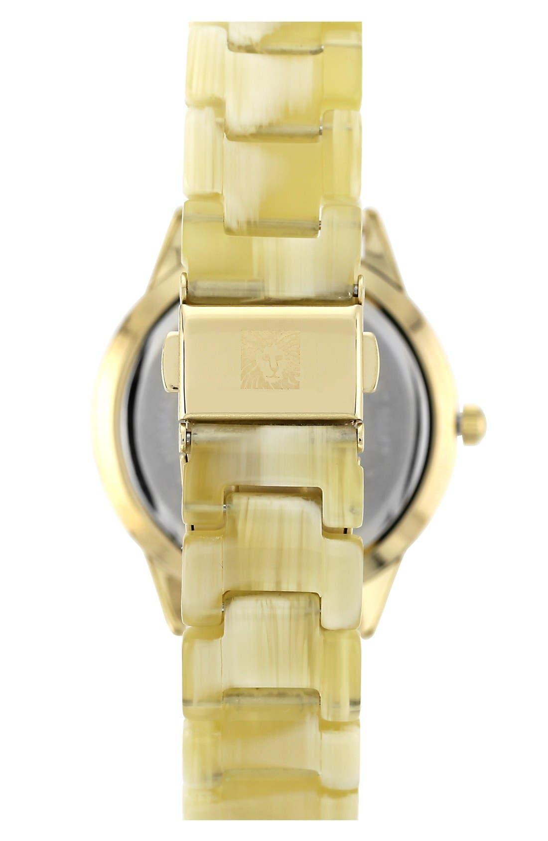 Alternate Image 2  - Anne Klein Crystal Case Bracelet Watch
