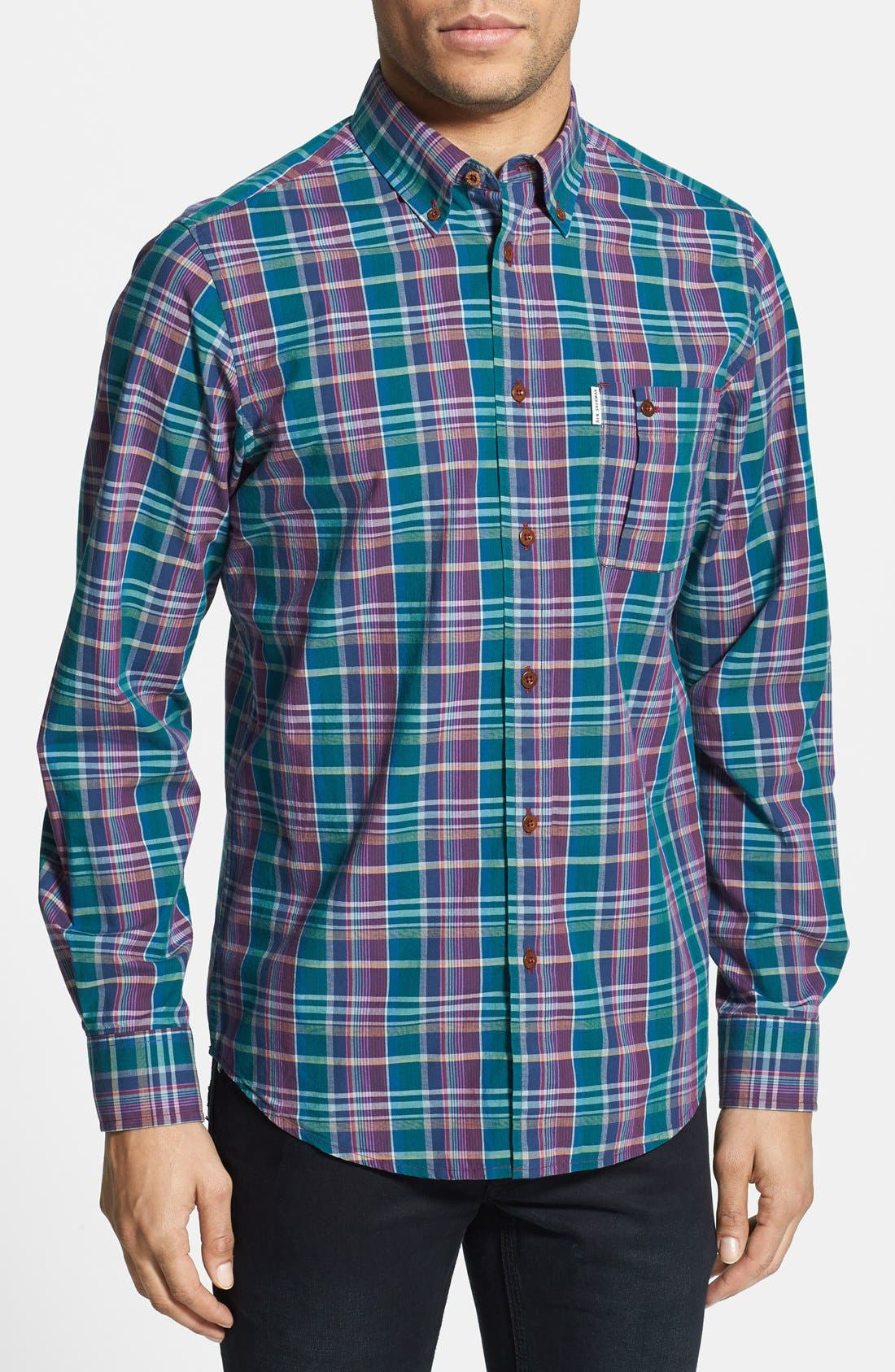 Main Image - Ben Sherman Plaid Woven Shirt
