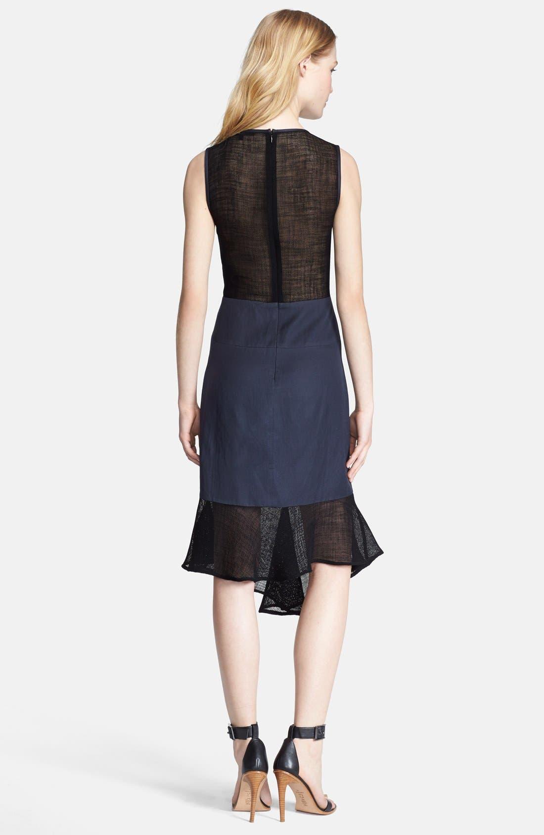 Alternate Image 2  - Tibi 'Fog' Embroidered A-Line Dress