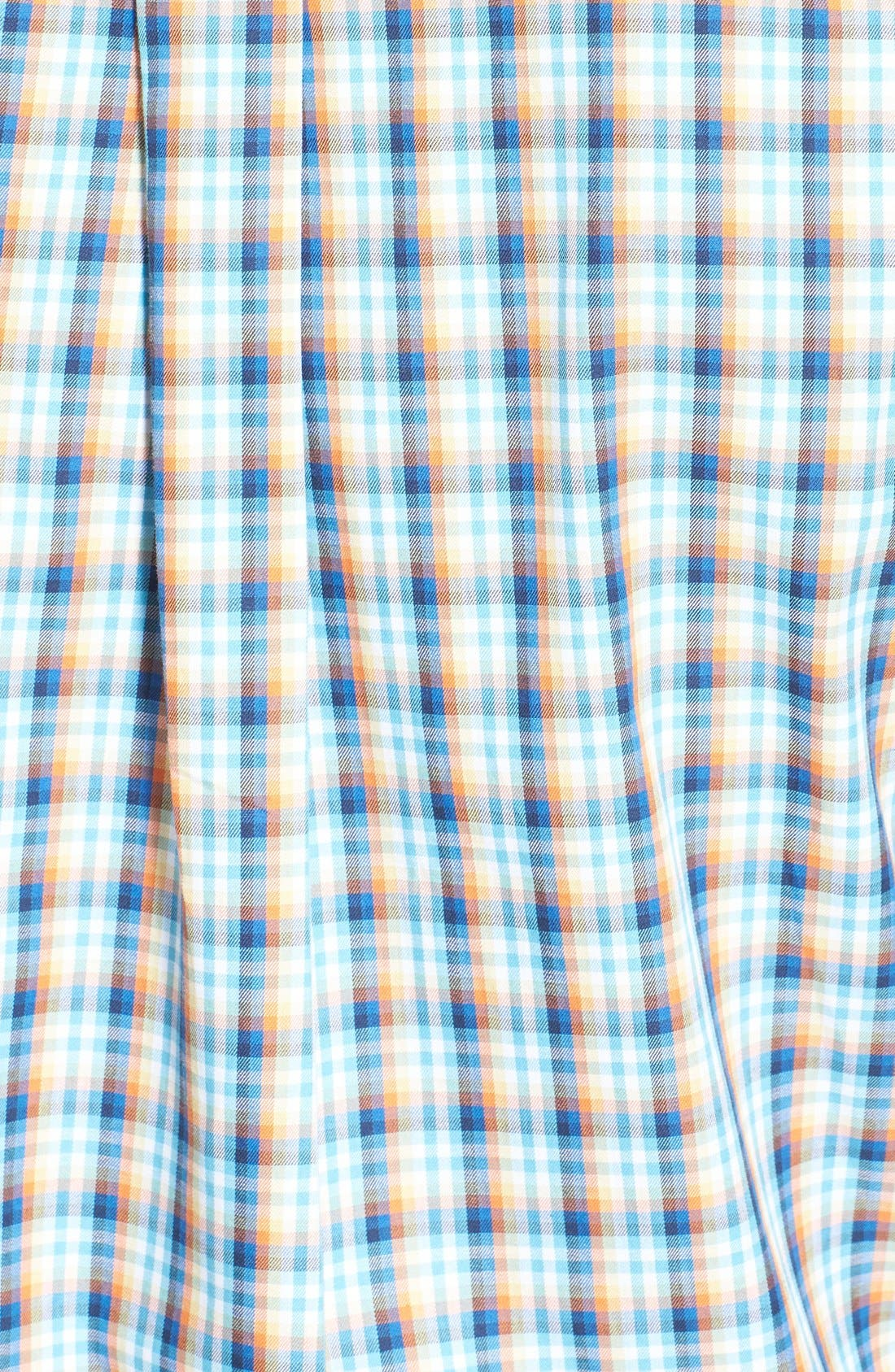 Alternate Image 3  - Cutter & Buck 'Morton Road' Classic Fit Short Sleeve Plaid Sport Shirt (Big & Tall)