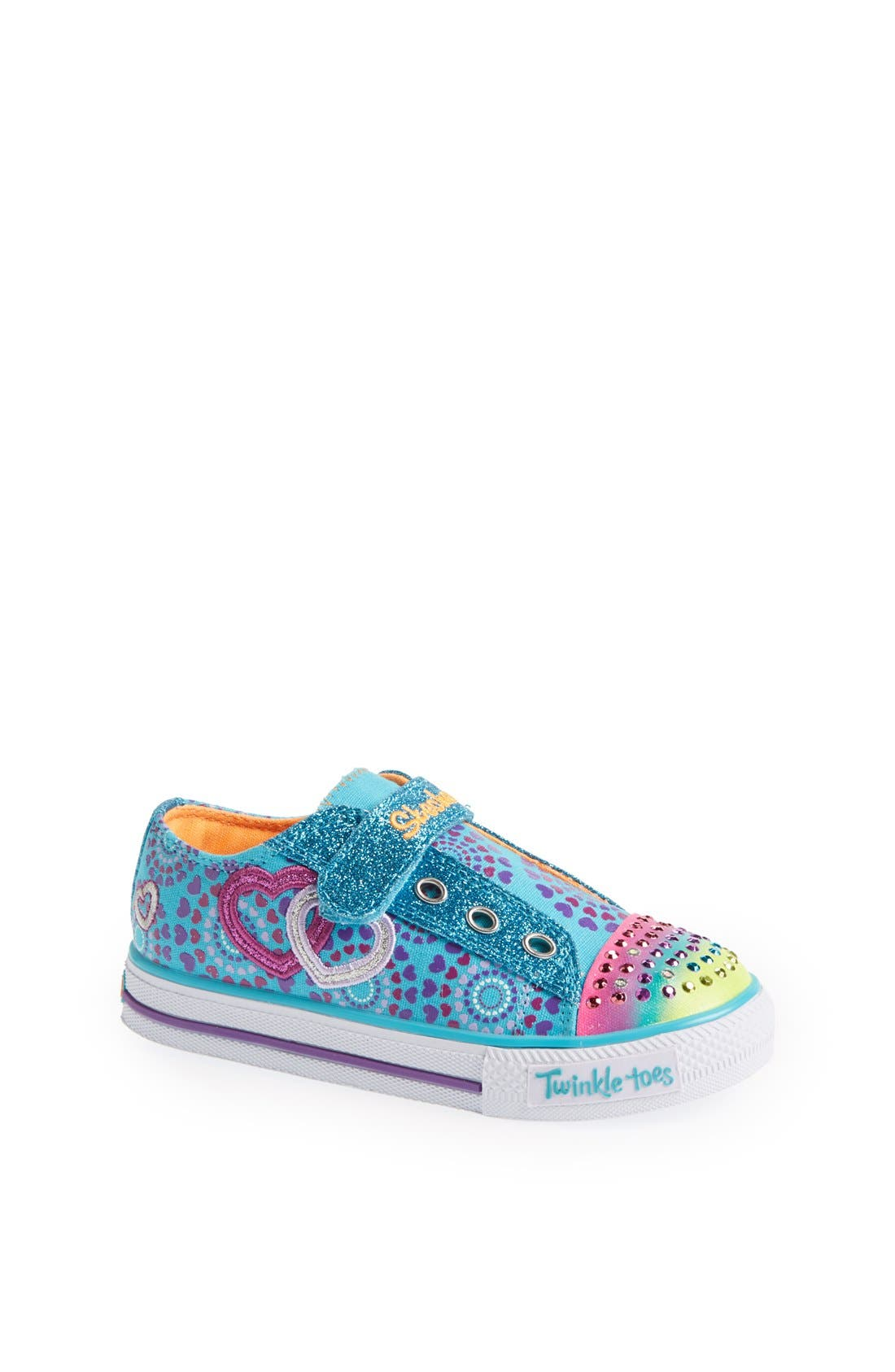 Alternate Image 1 Selected - SKECHERS 'Shuffles - Love Burst' Sneaker (Toddler)
