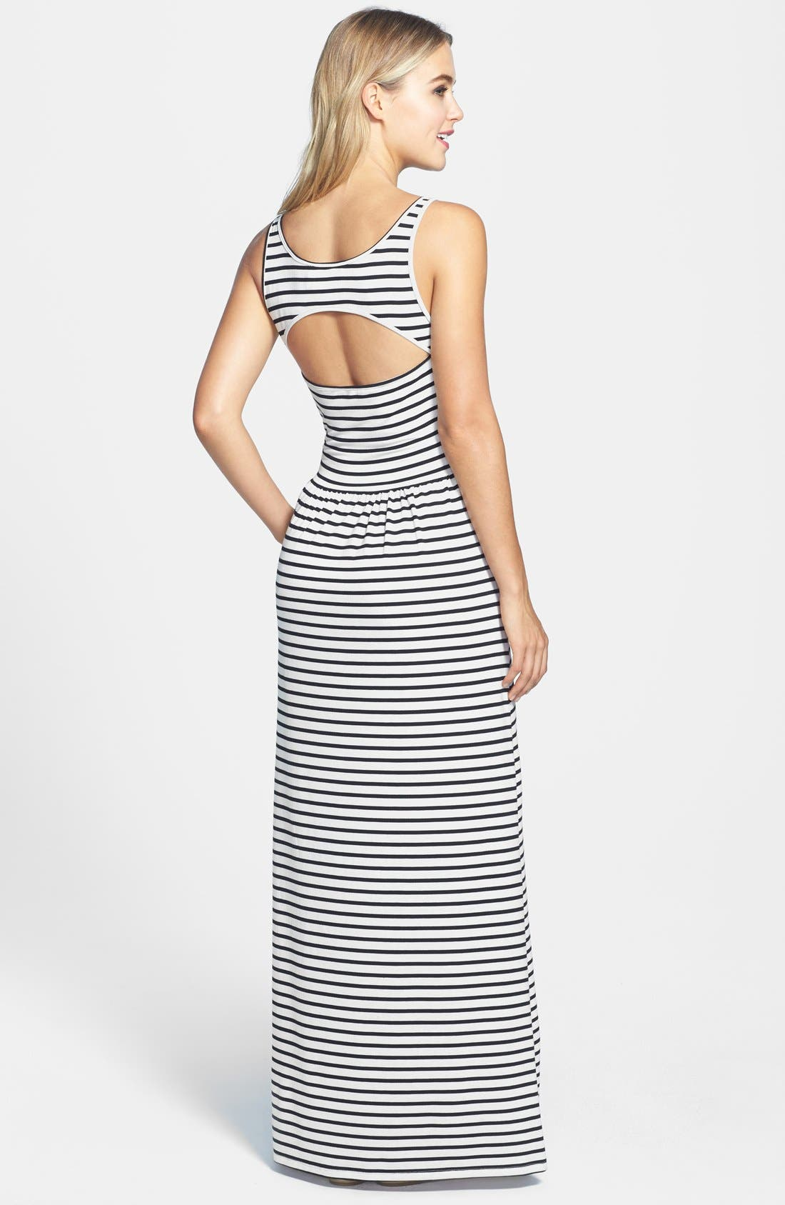 Alternate Image 2  - Two by Vince Camuto 'Rising Stripe' Back Cutout Sleeveless Maxi Dress