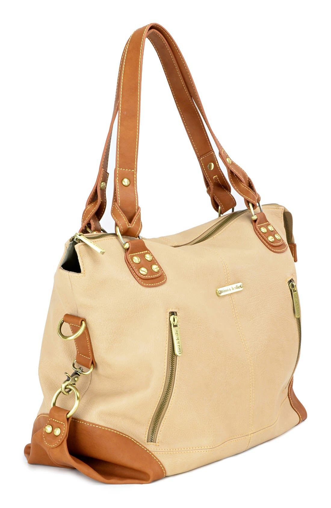 Alternate Image 4  - Timi & Leslie 'Kate' Faux Leather Diaper Bag