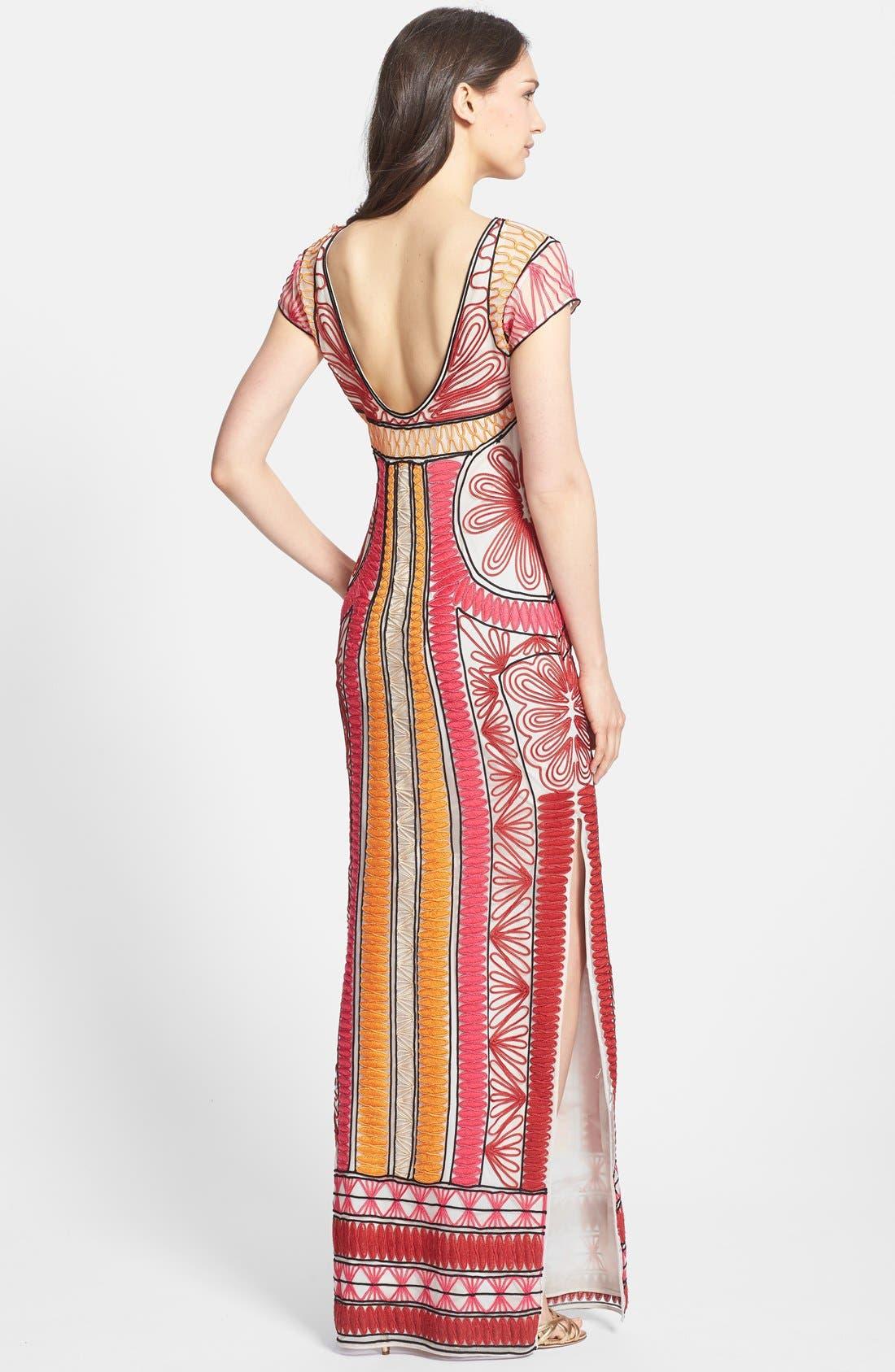 Alternate Image 2  - Diane von Furstenberg 'Ellison Passementry' Embellished Woven Column Gown
