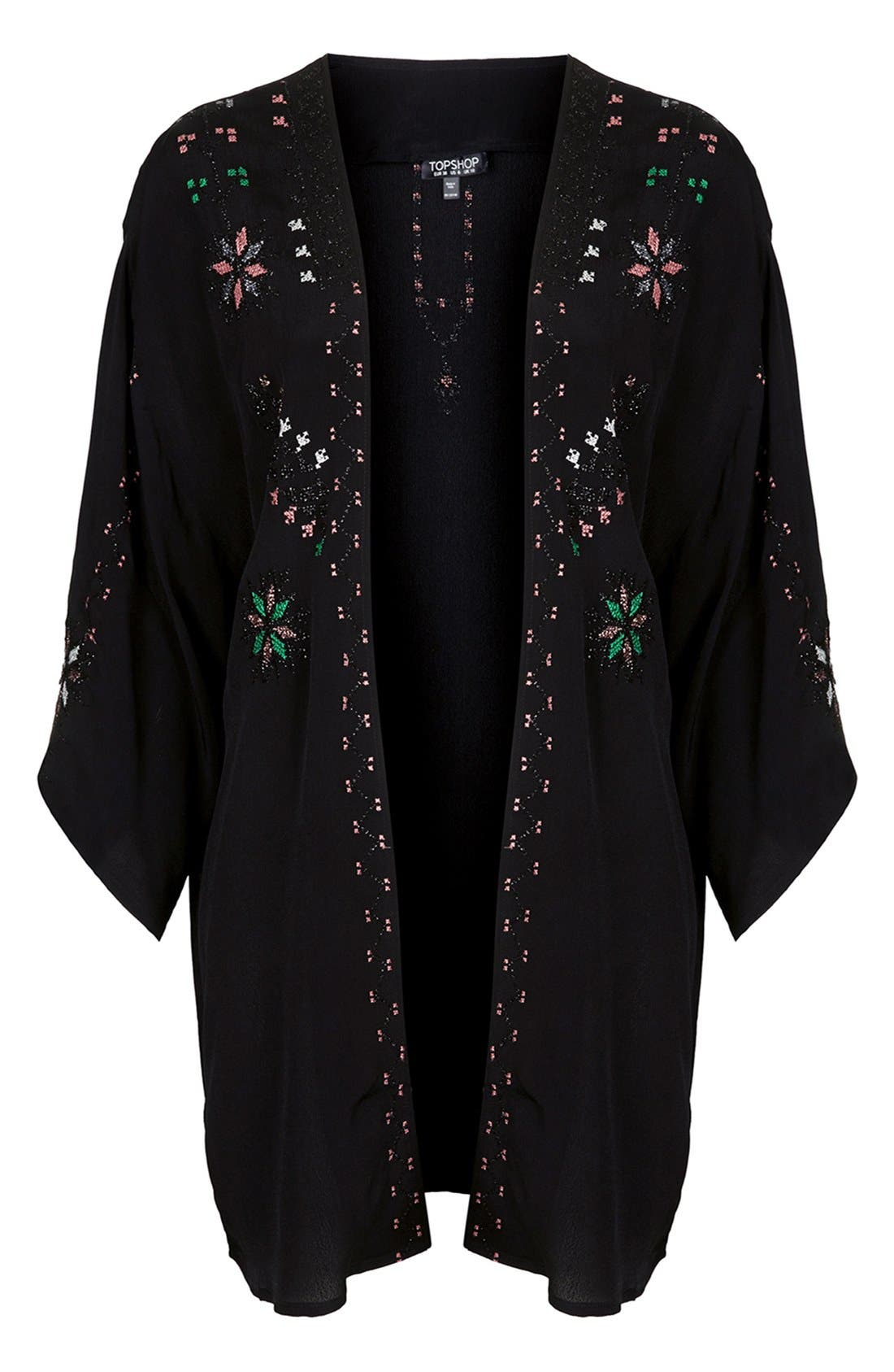 Alternate Image 3  - Topshop Embroidered Kimono Jacket
