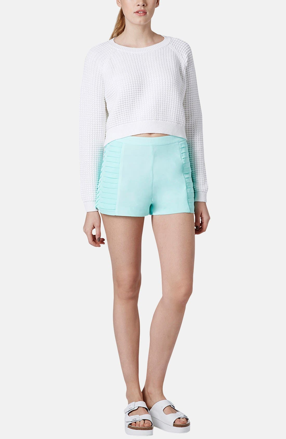 Alternate Image 5  - Topshop 'Fisherman' Crop Sweater