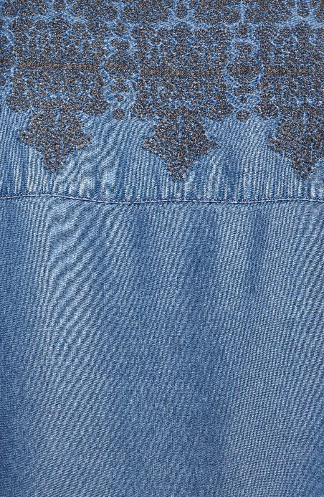 Alternate Image 3  - Hinge® Embroidered Denim Top