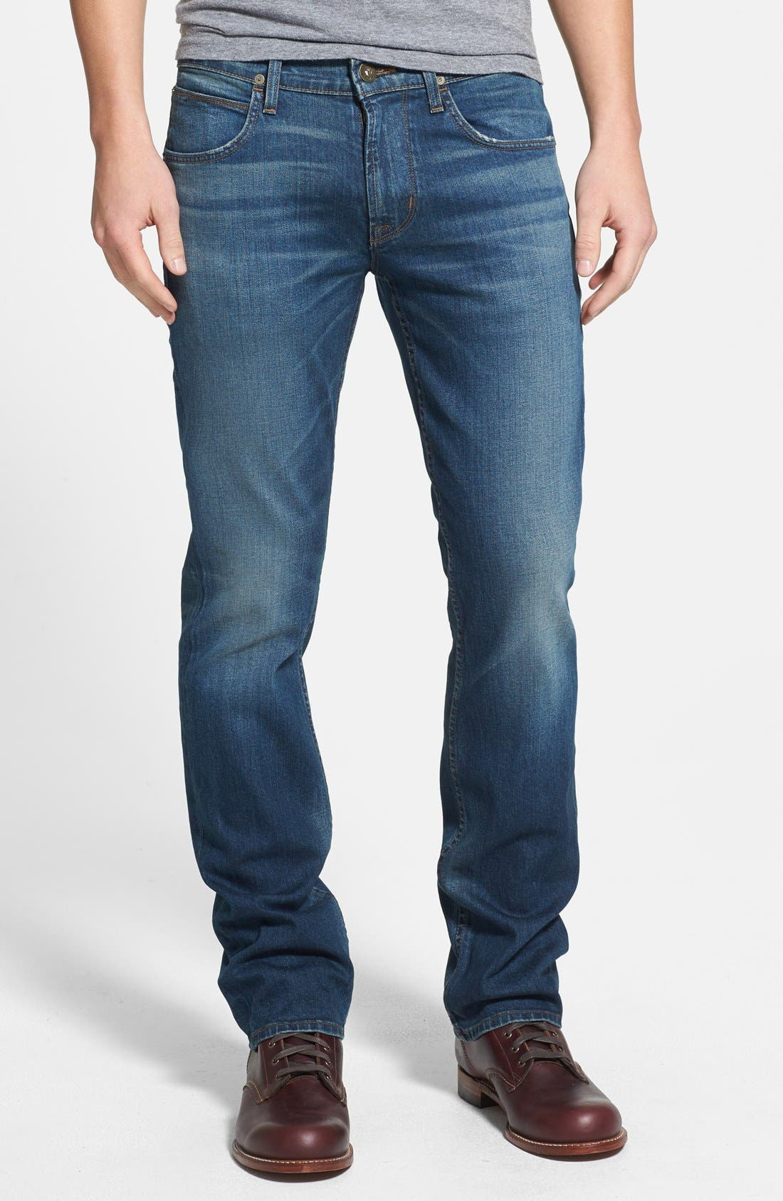 Alternate Image 1 Selected - Hudson Jeans 'Byron' Straight Leg Jeans (Boneyard)