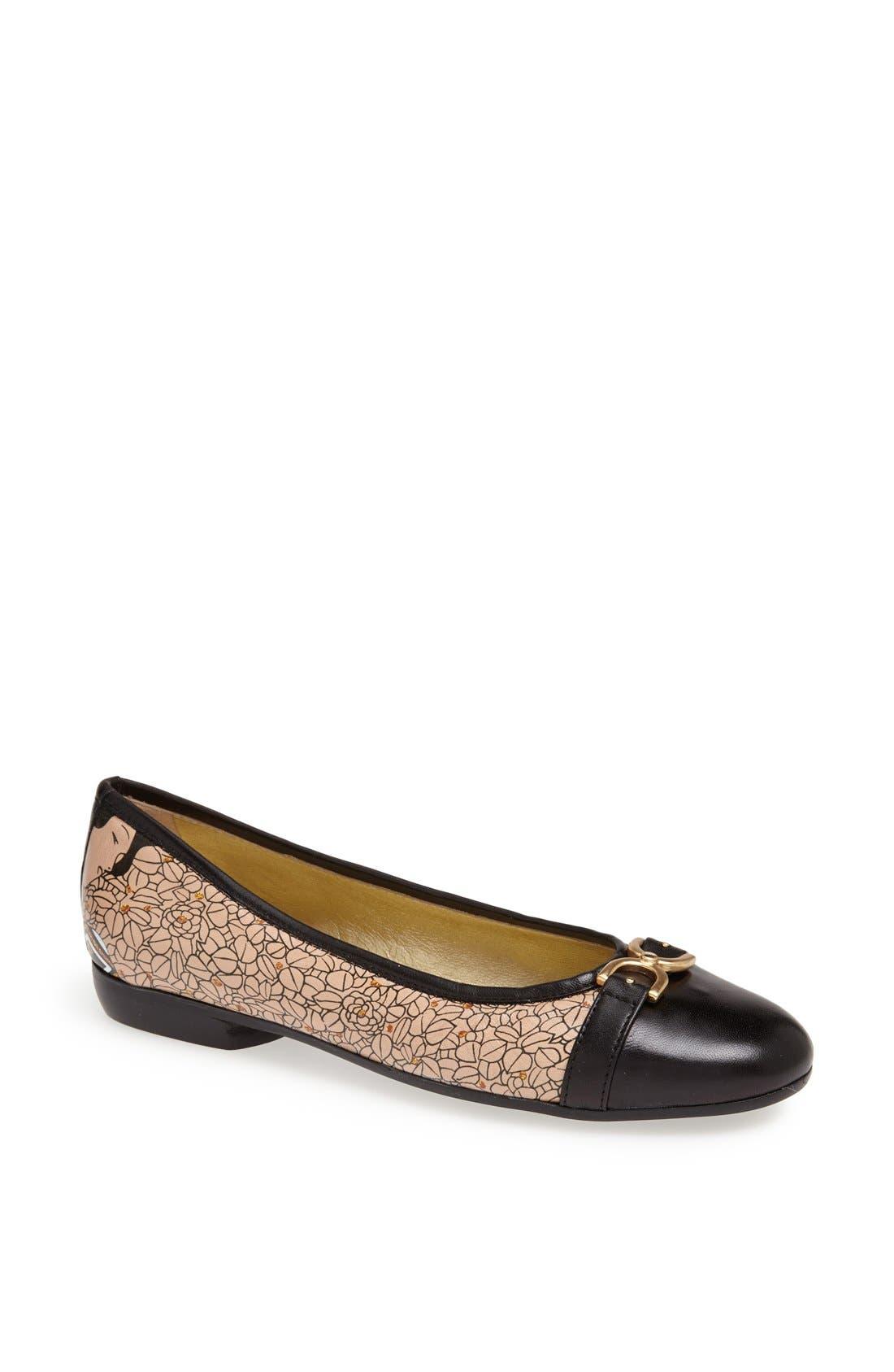 Alternate Image 1 Selected - Icon Footwear Cap Toe Ballet Flat