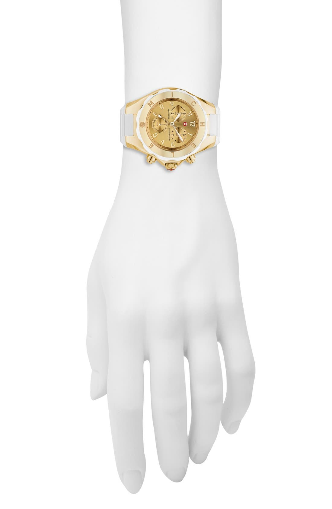 Alternate Image 2  - MICHELE 'Tahitian Jelly Bean' Gold Plated Watch, 40mm