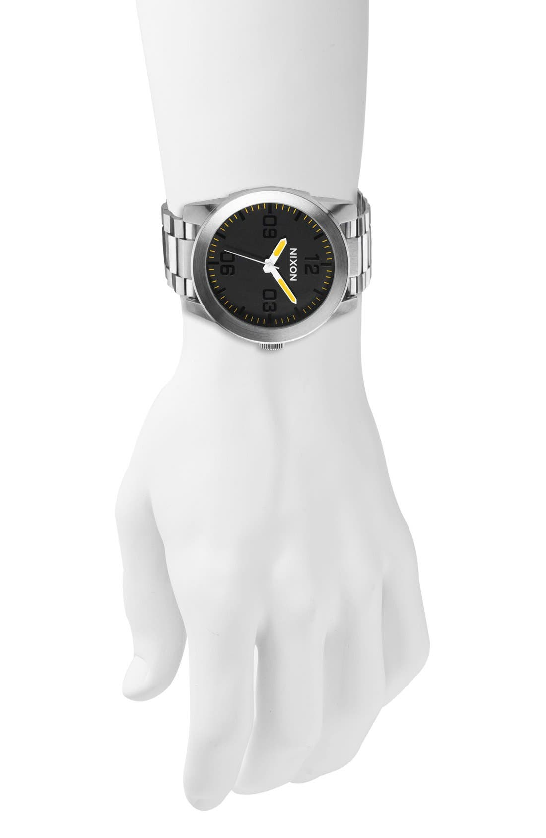 Alternate Image 4  - Nixon 'The Corporal' Bracelet Watch, 48mm