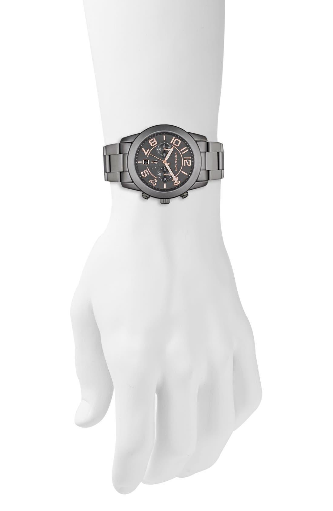 Alternate Image 2  - Michael Kors 'Mercer' Large Chronograph Bracelet Watch, 45mm
