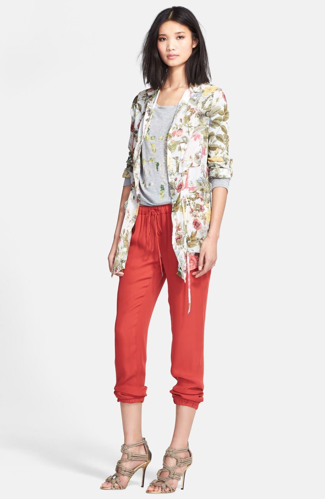Alternate Image 4  - Haute Hippie 'Lover' Floral Print Sweatshirt