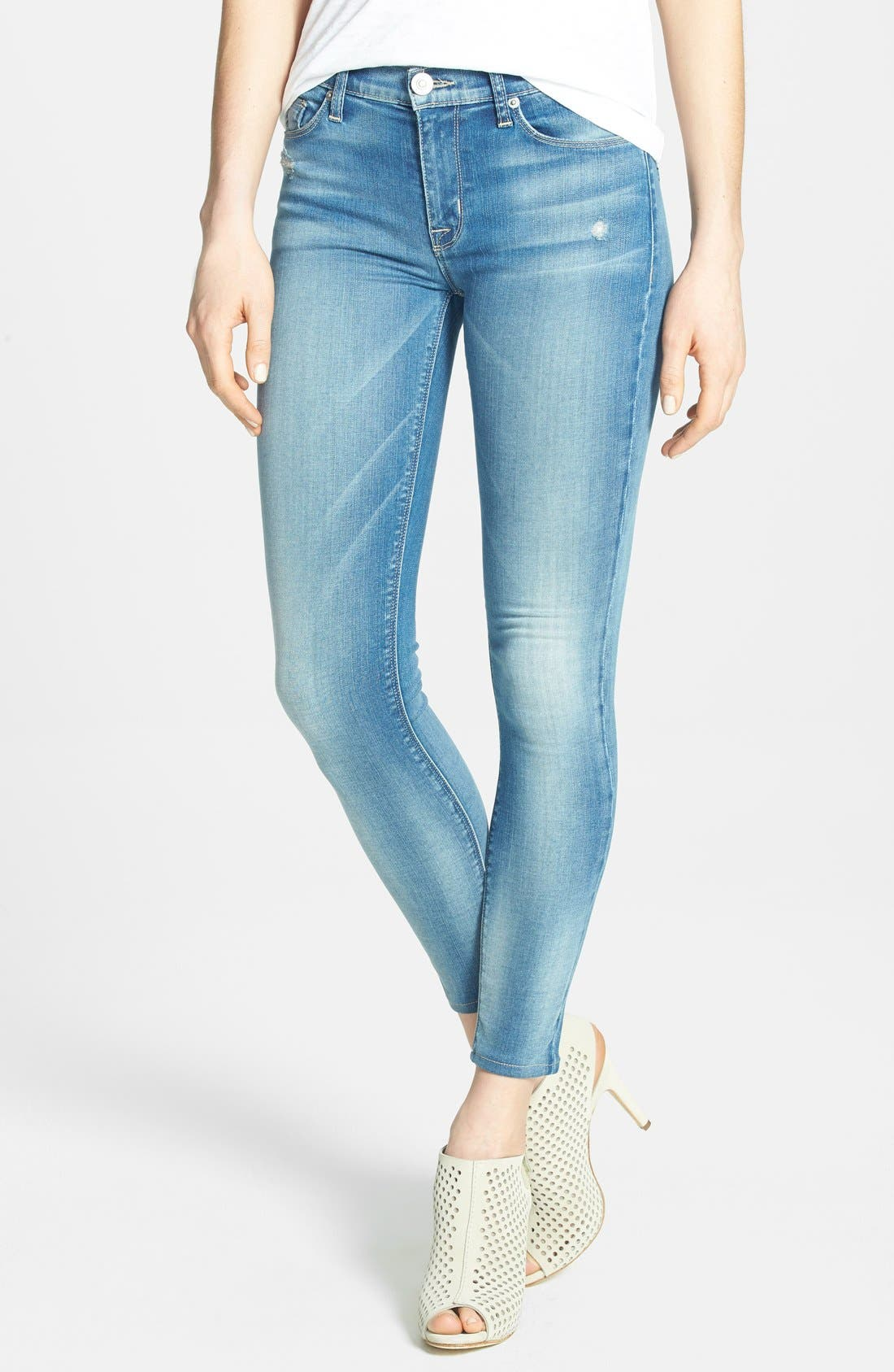 Alternate Image 1 Selected - Hudson Jeans 'Krista' Crop Skinny Jeans (Voodoo Child)